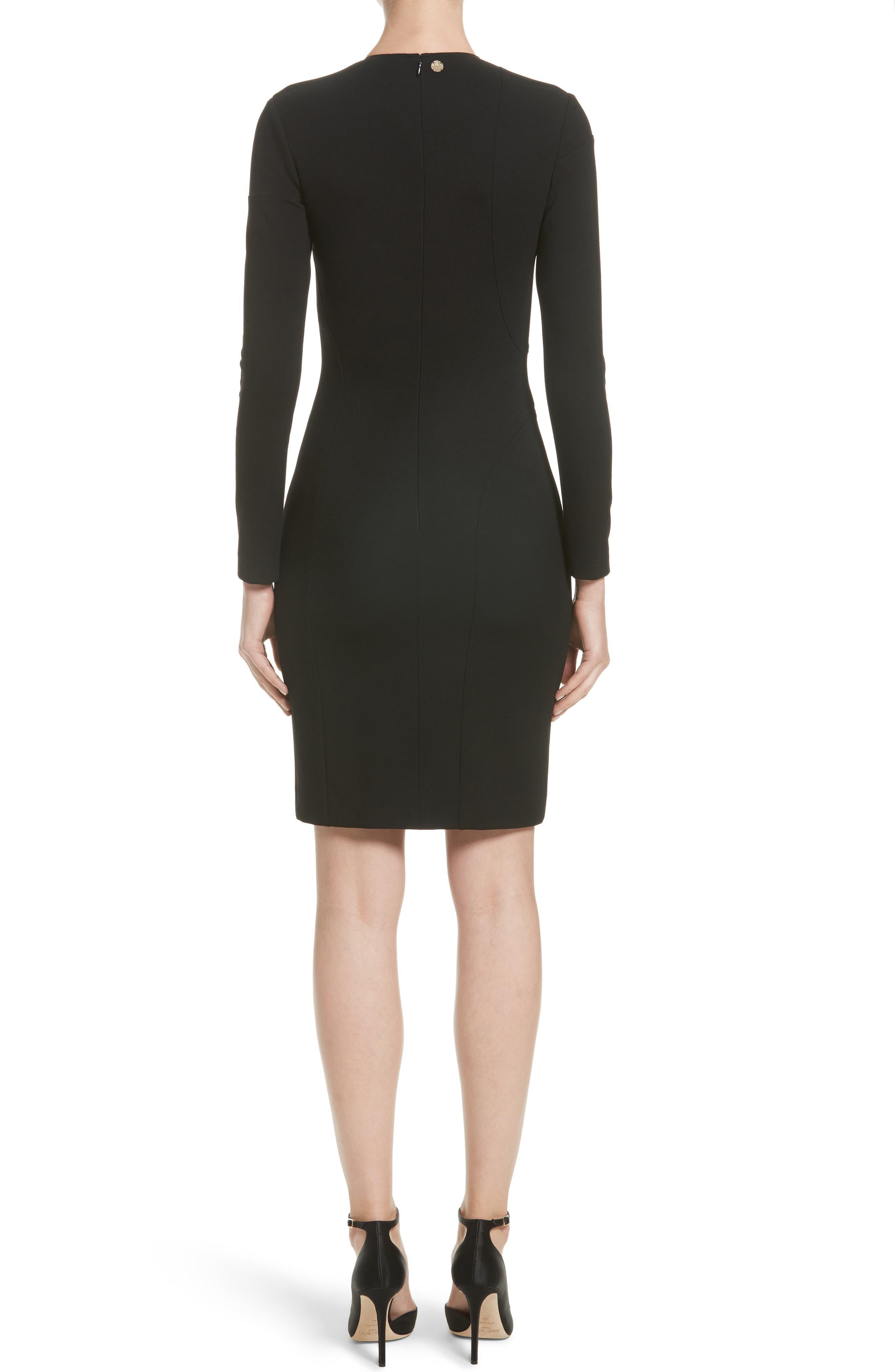 Collection Cutout Sheath Dress,                             Alternate thumbnail 2, color,                             001