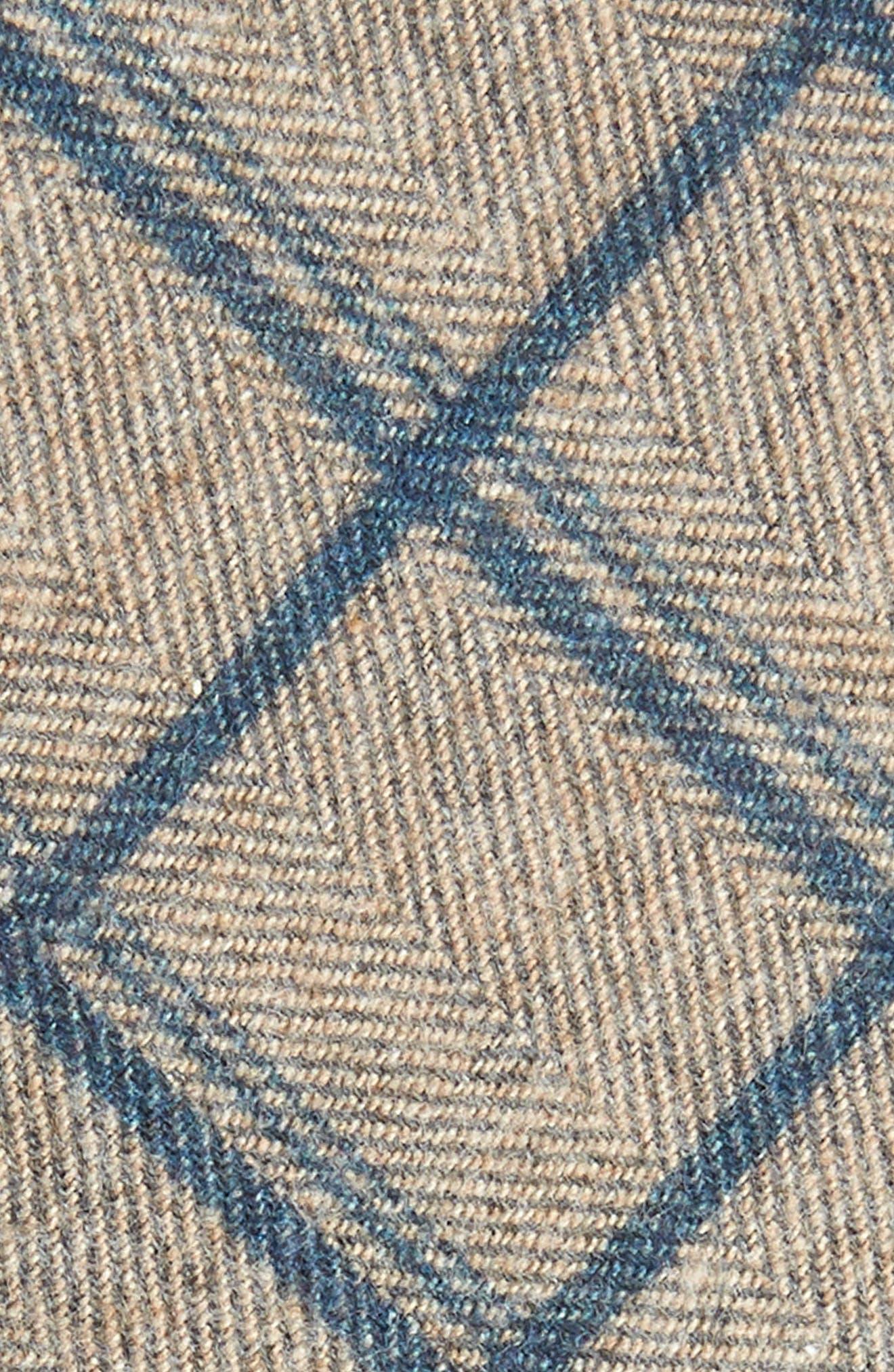 Plaid Cotton Tie,                             Alternate thumbnail 2, color,                             NAVY