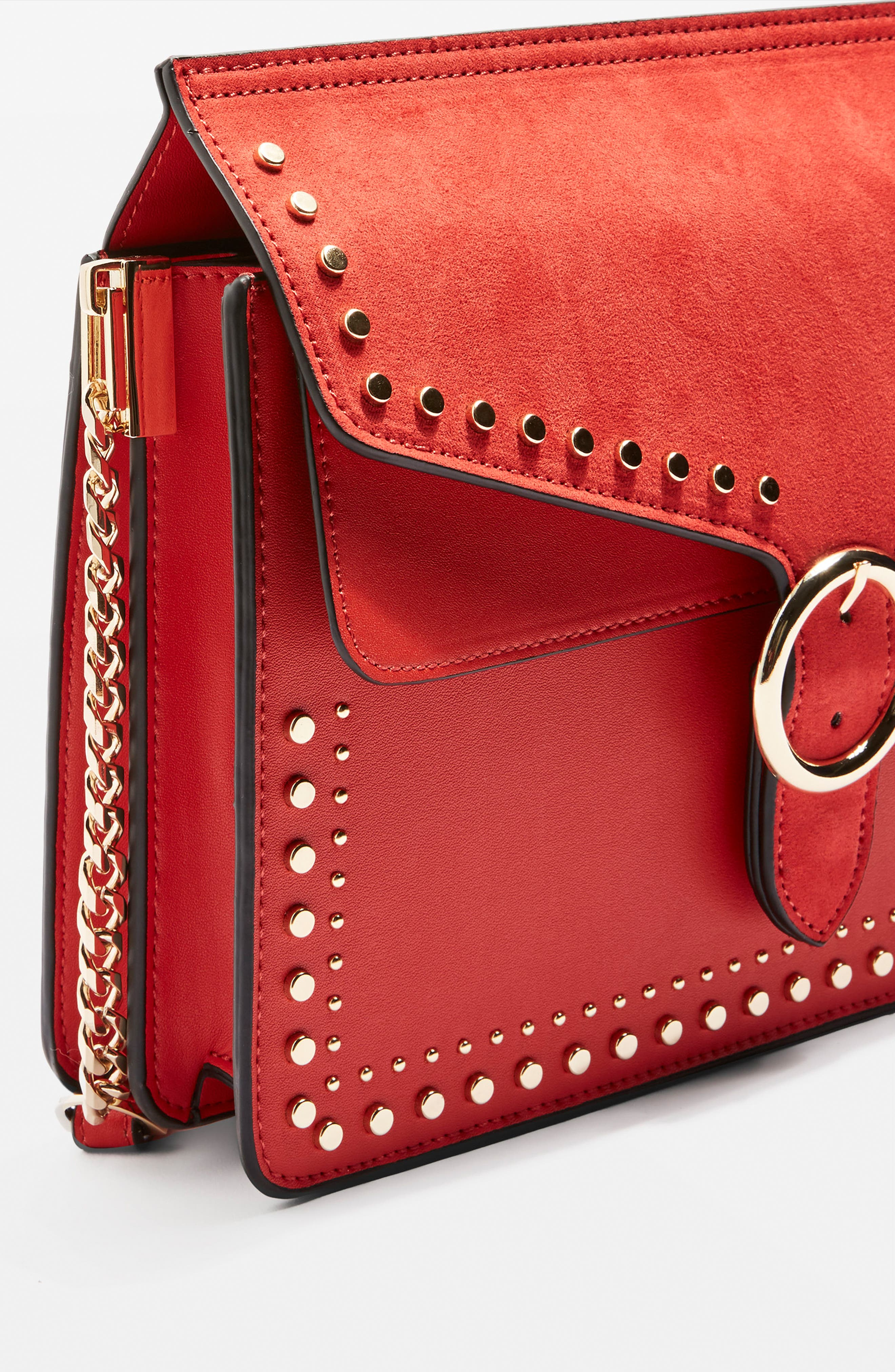 Peony Studded Shoulder Bag,                             Alternate thumbnail 12, color,