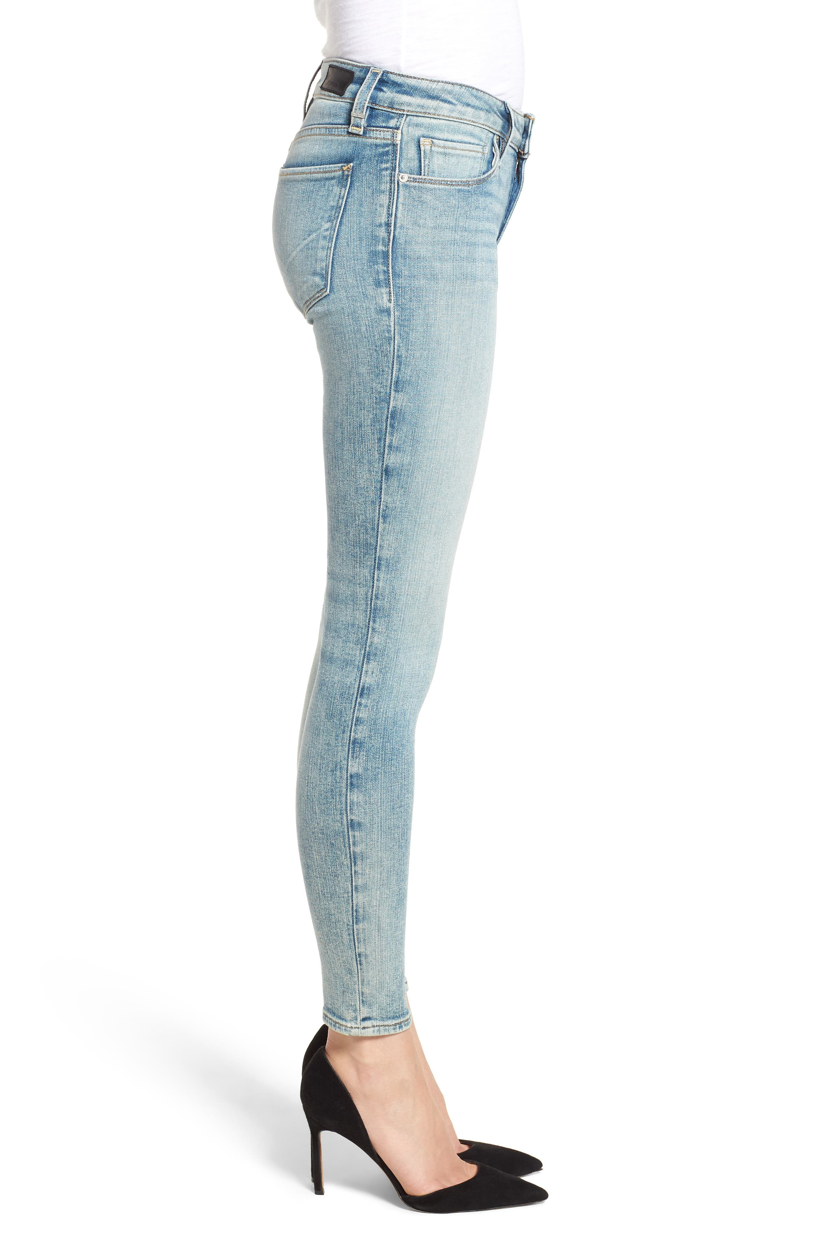 Krista Ankle Super Skinny Jeans,                             Alternate thumbnail 3, color,                             438