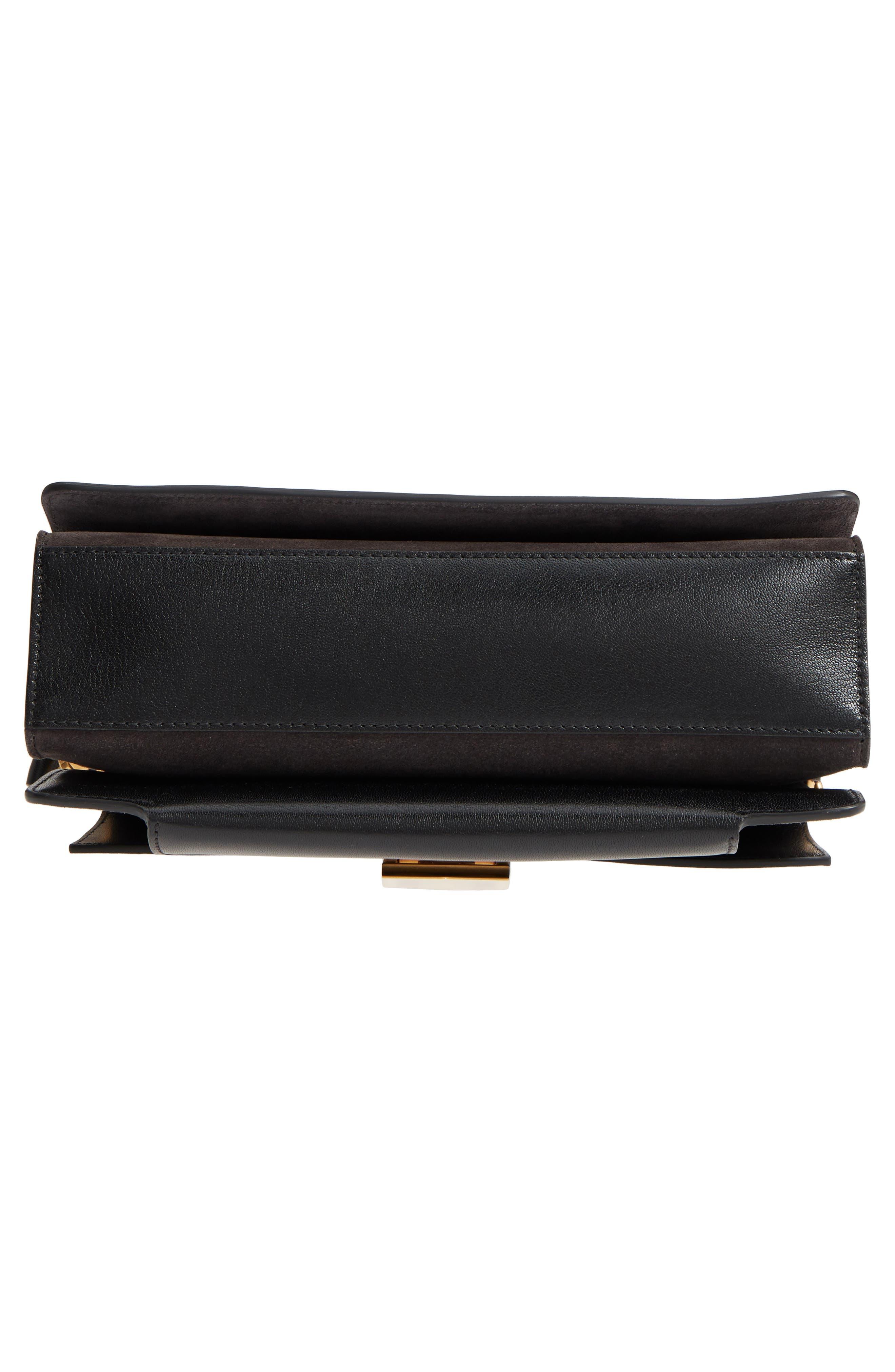 Medium GV3 Leather Crossbody Bag,                             Alternate thumbnail 6, color,                             BLACK/ GREY