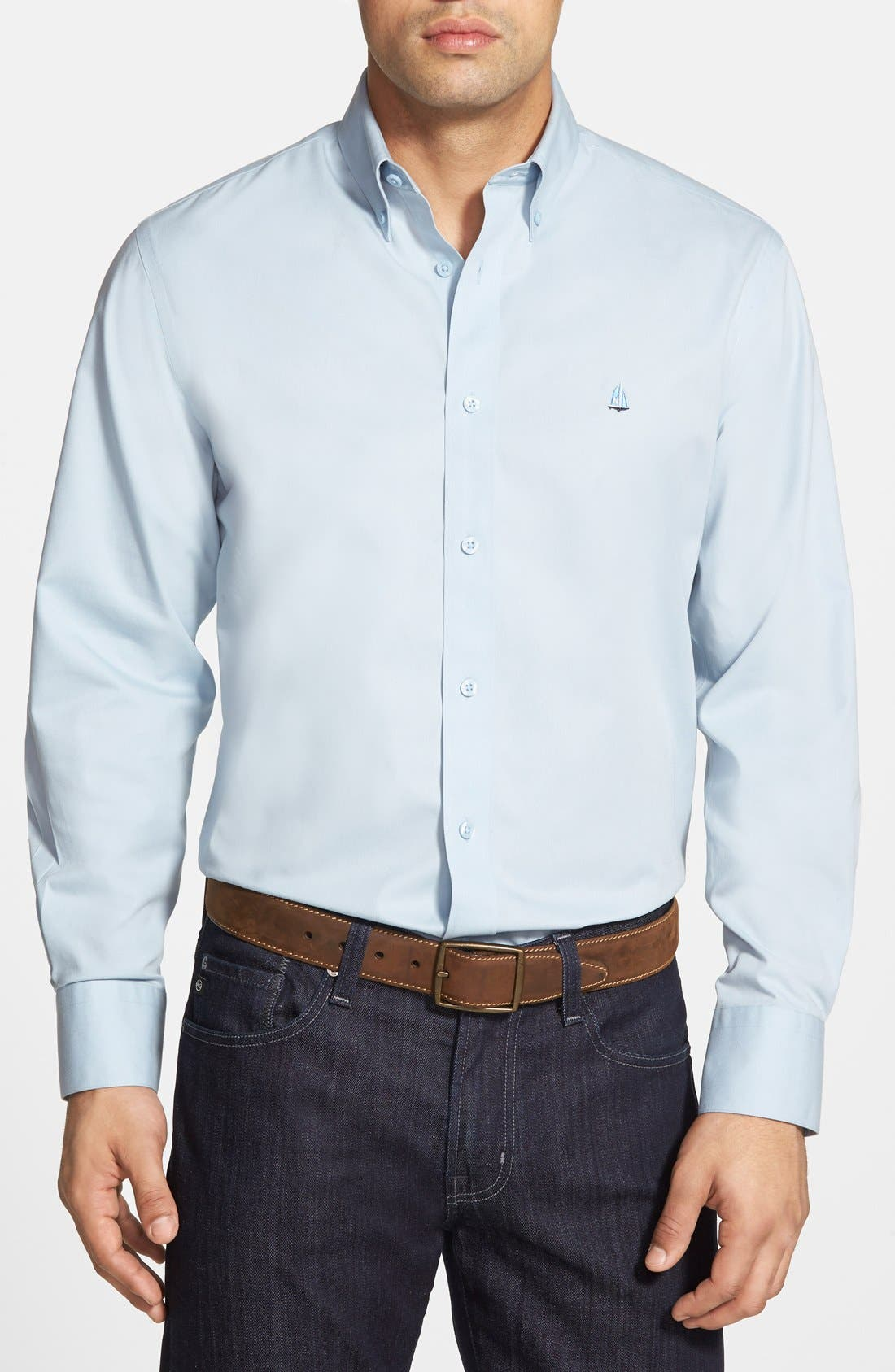 Smartcare<sup>™</sup> Traditional Fit Twill Boat Shirt,                             Main thumbnail 25, color,