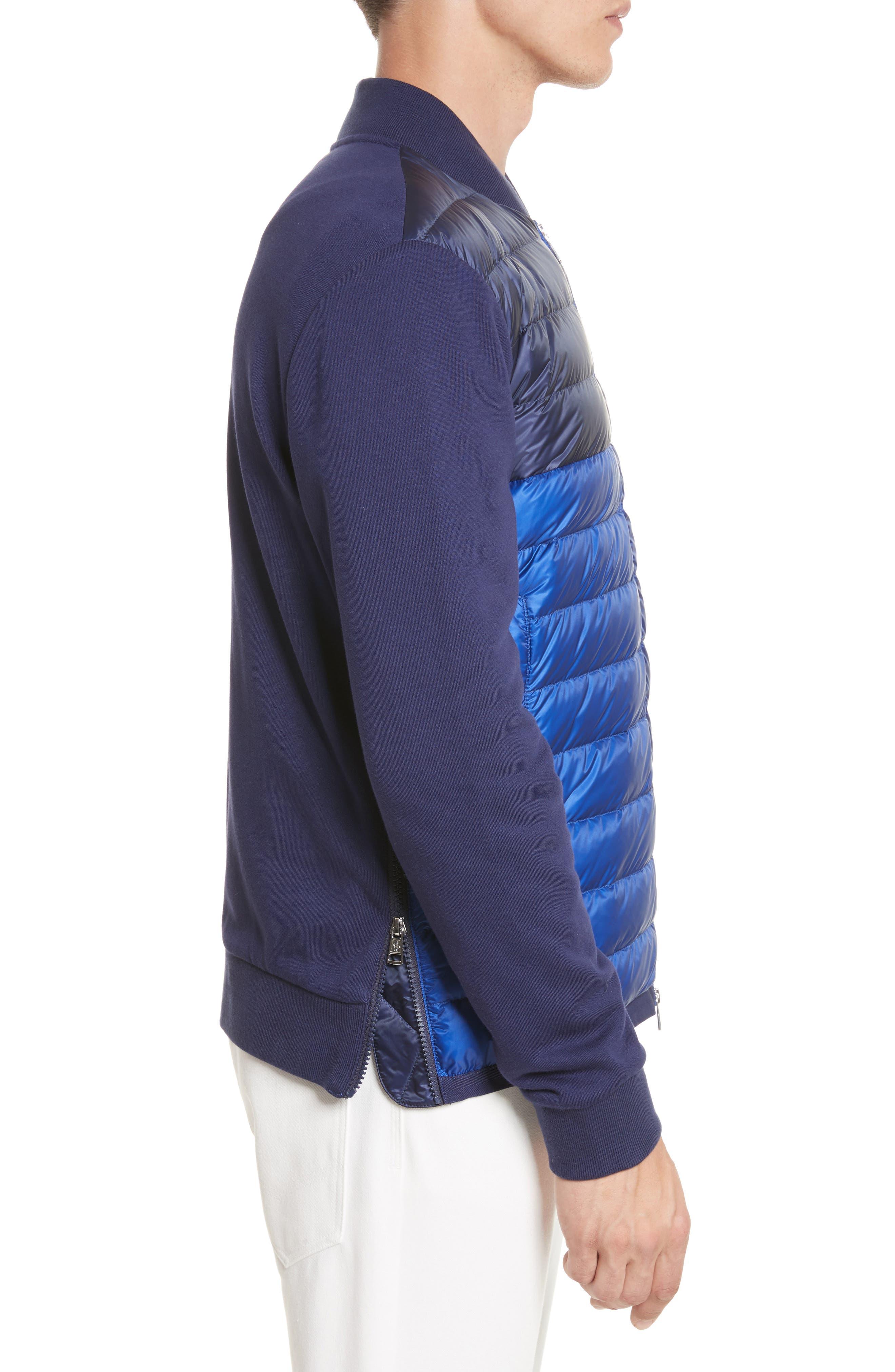 Maglia Mixed Media Down Knit Jacket,                             Alternate thumbnail 3, color,                             420