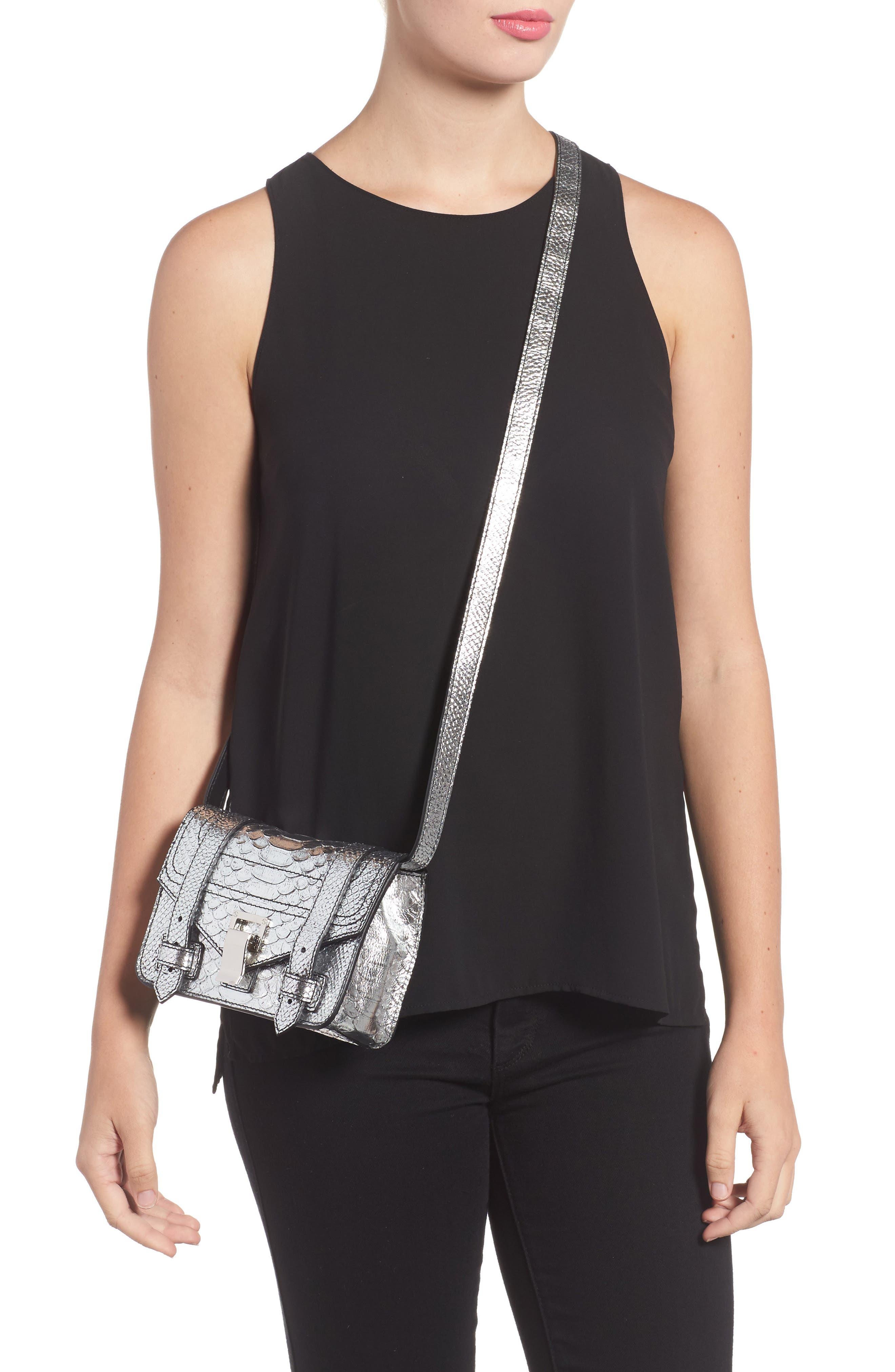 Mini PS1 Snakeskin Embossed Metallic Leather Crossbody Bag,                             Alternate thumbnail 2, color,                             040