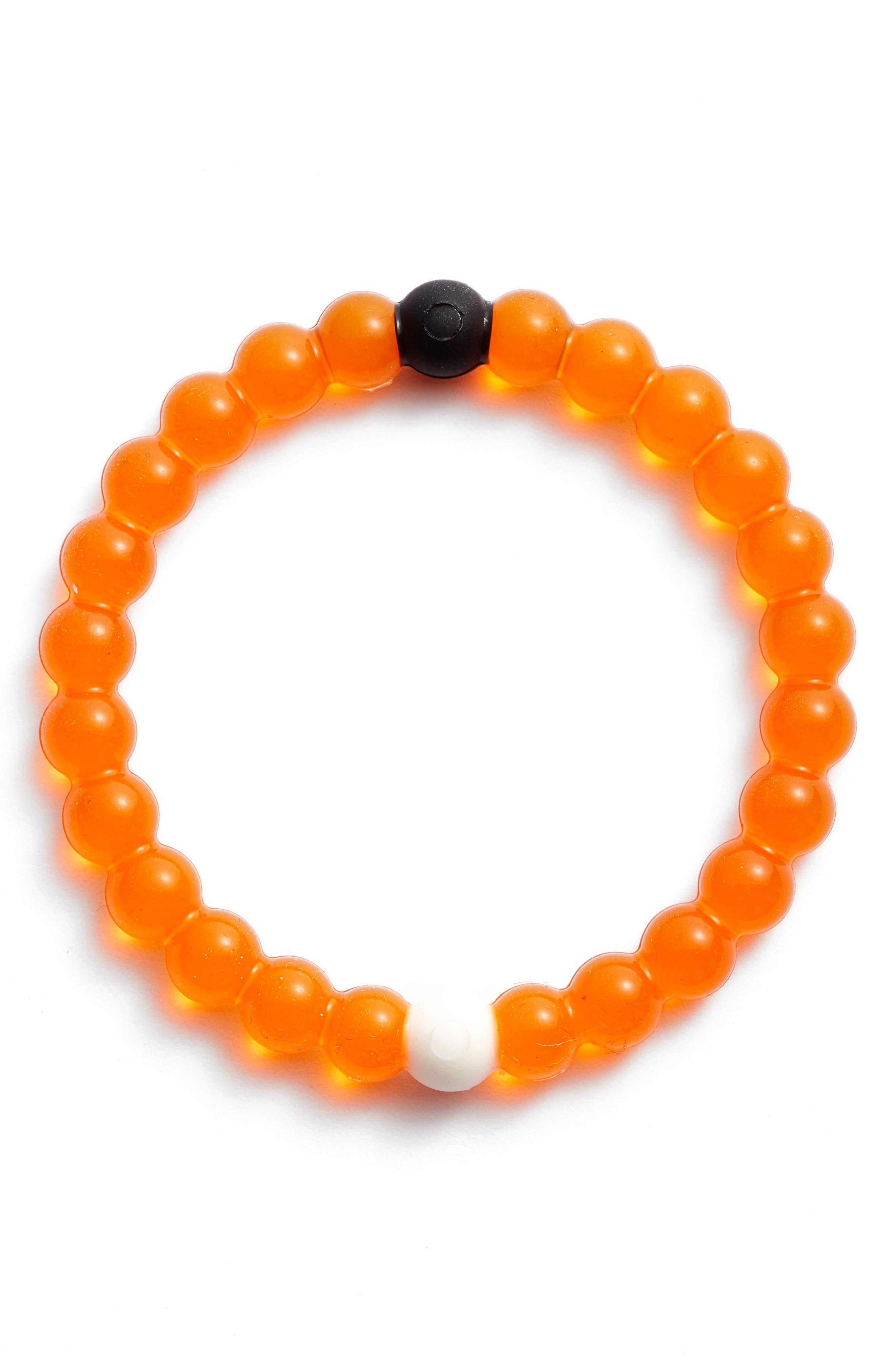 Mental Health Awareness Orange Bracelet,                             Main thumbnail 1, color,                             800