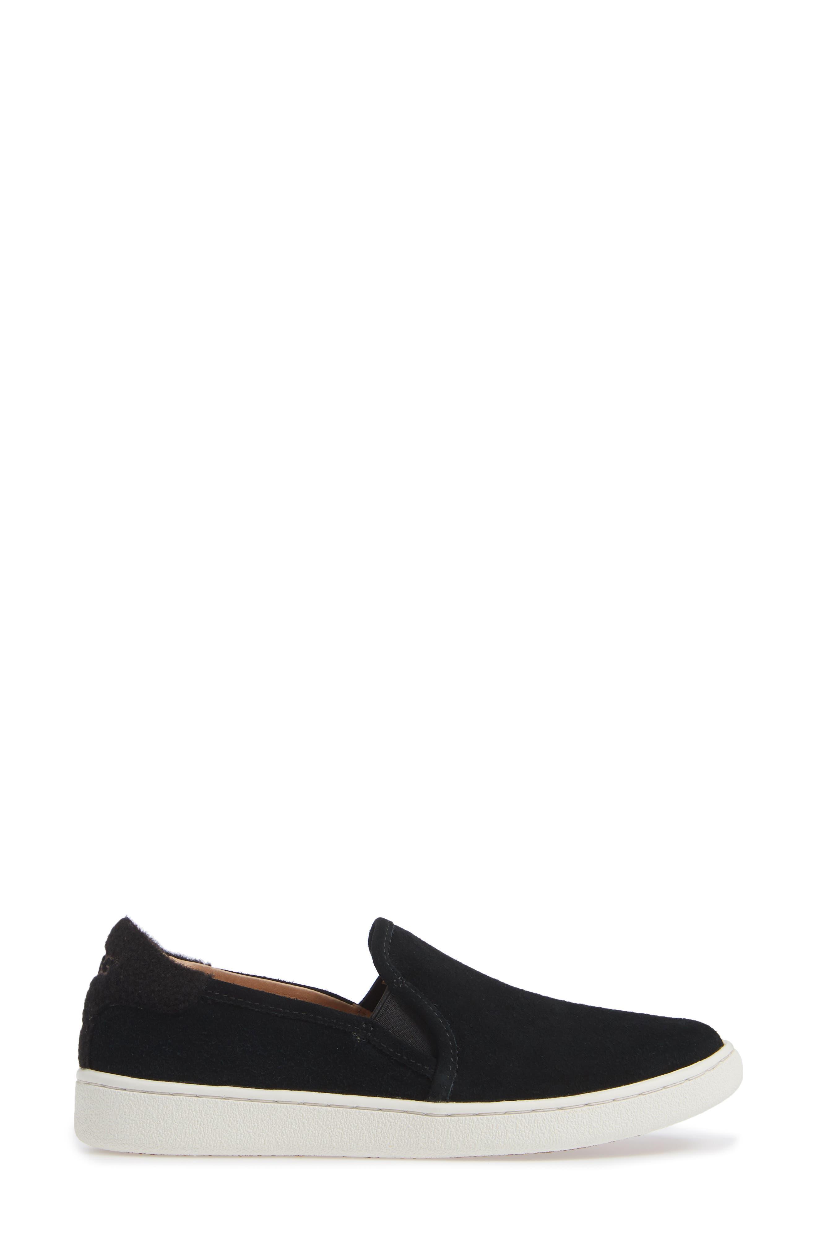 Cas Slip-On Sneaker,                             Alternate thumbnail 3, color,                             BLACK