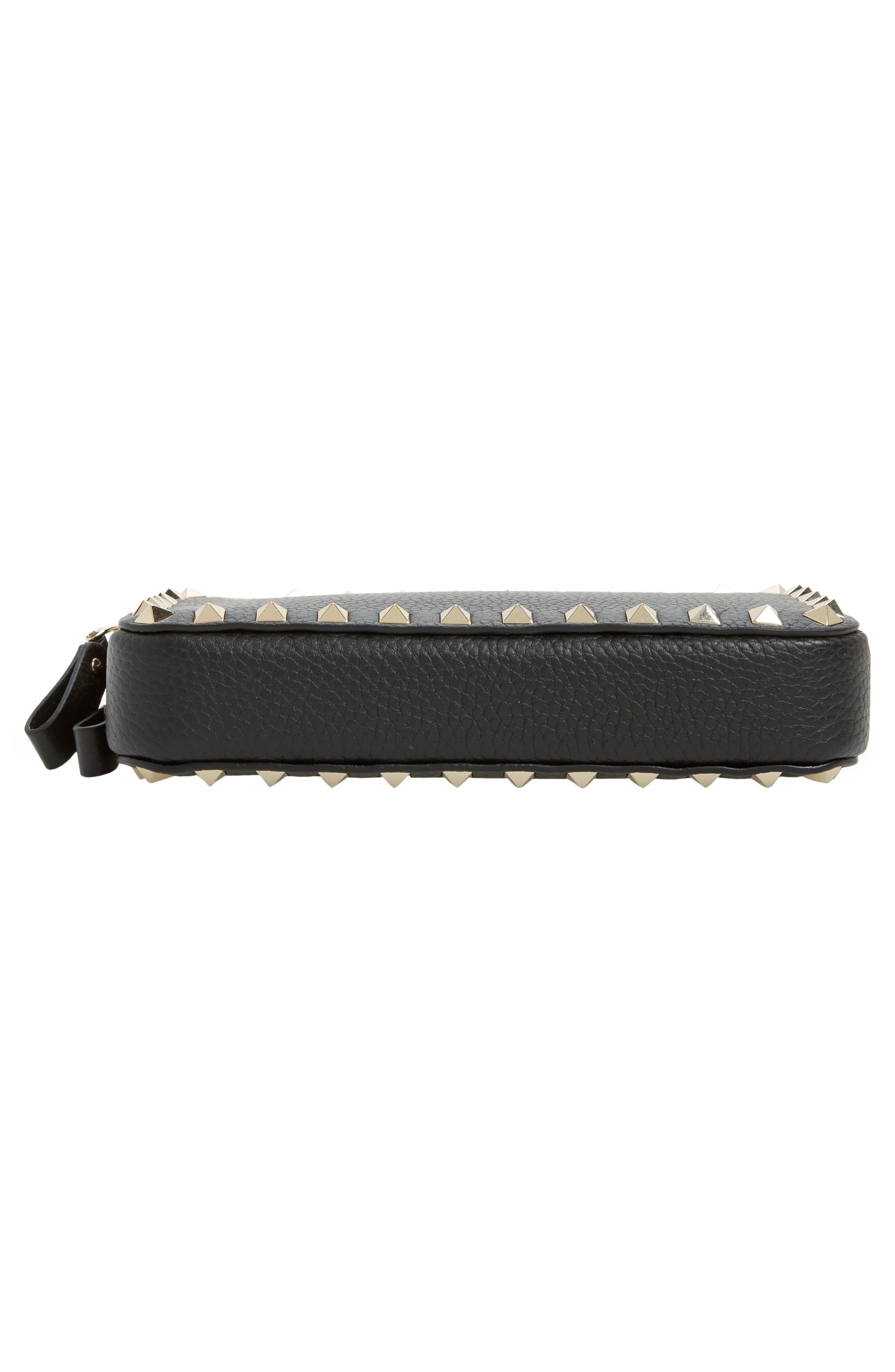 Mini Calfskin Leather Camera Bag,                             Alternate thumbnail 6, color,                             001