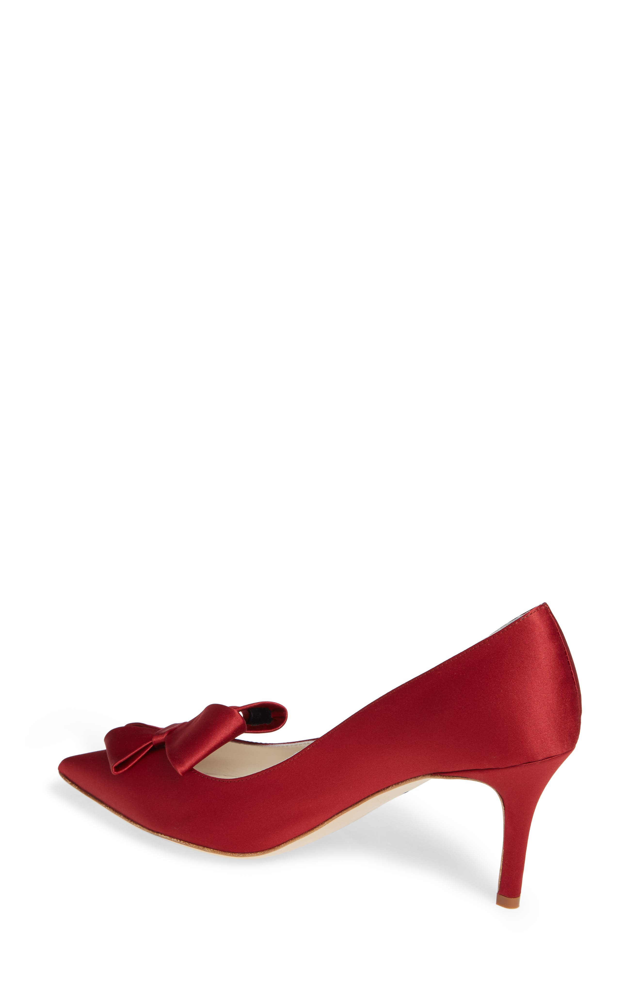 SOMETHING BLEU,                             Caitlin Bow Pointy Toe Pump,                             Alternate thumbnail 2, color,                             LIPSTICK MOIRE
