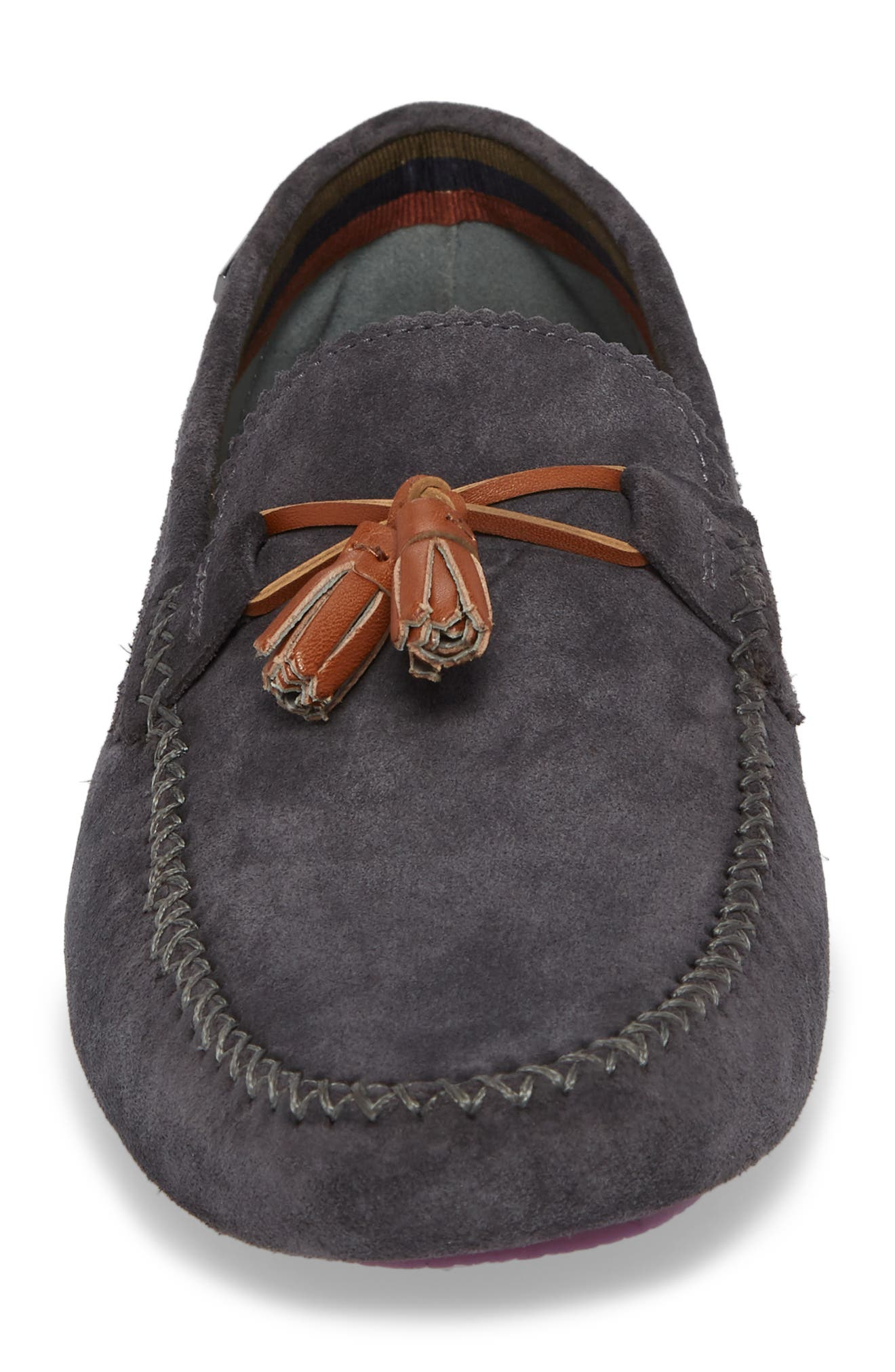 Urbonns Tasseled Driving Loafer,                             Alternate thumbnail 4, color,                             070