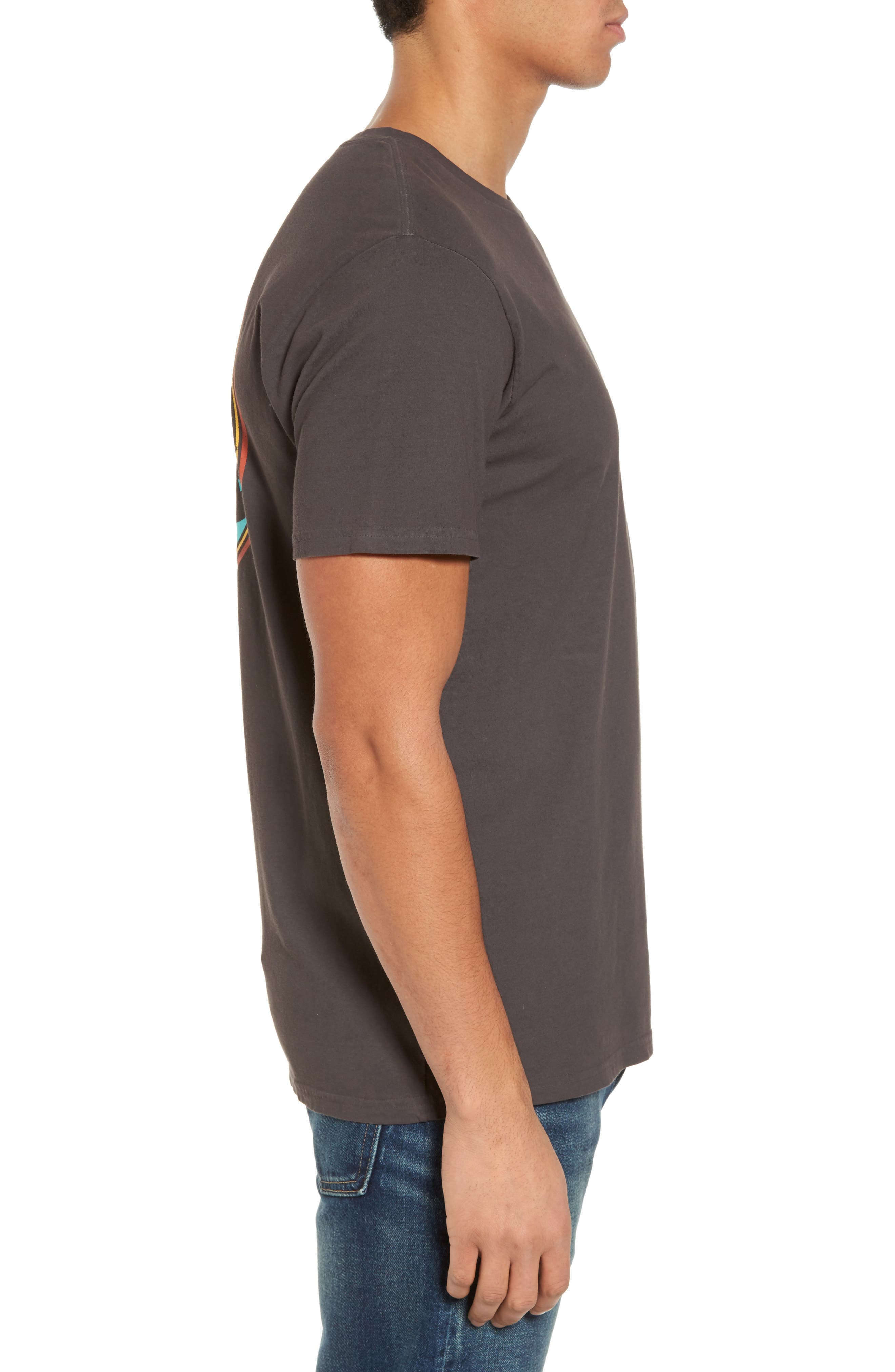 Single Fin Graphic T-Shirt,                             Alternate thumbnail 3, color,                             010