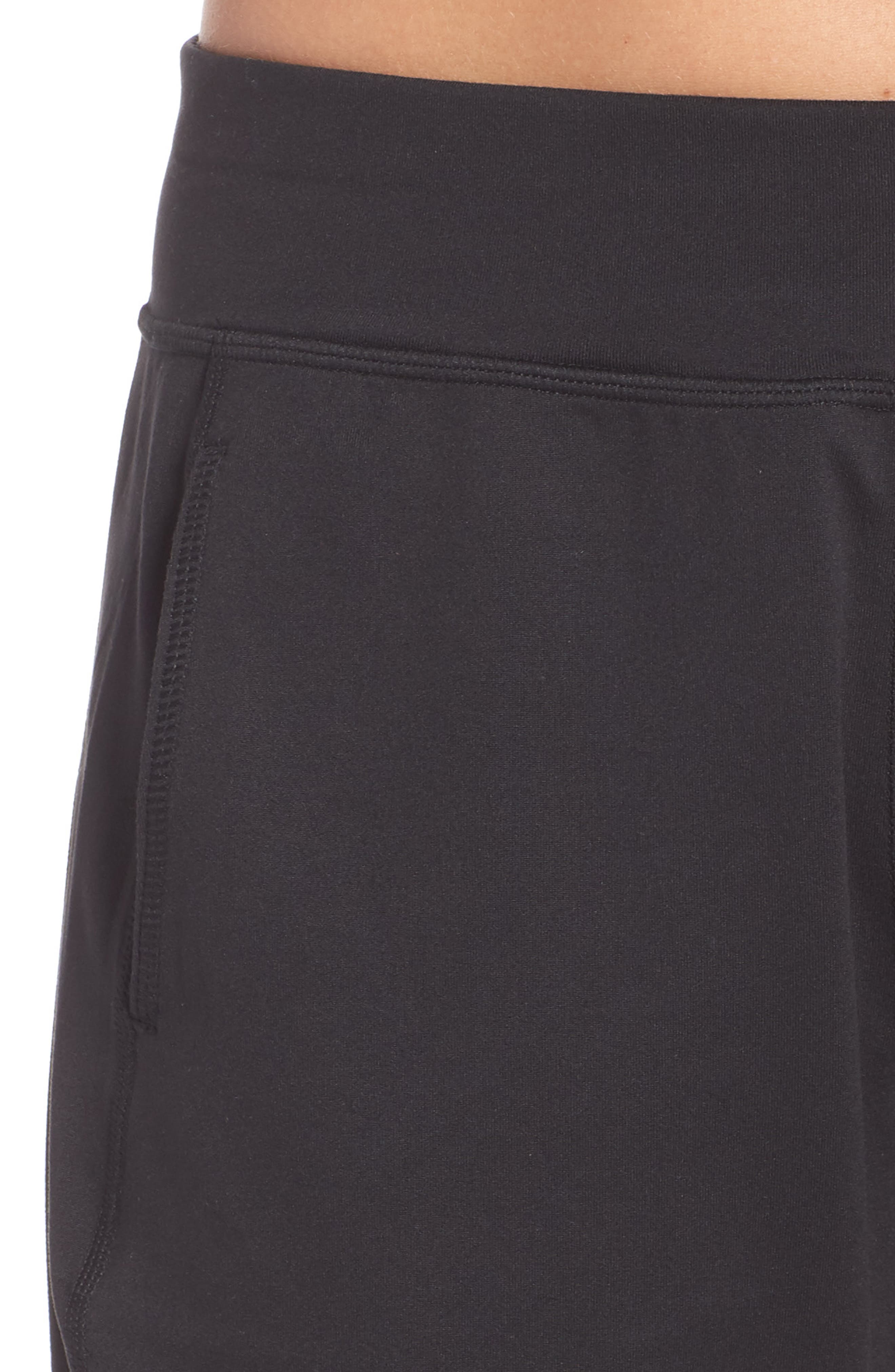 Garudasana Yoga Trousers,                             Alternate thumbnail 4, color,                             BLACK
