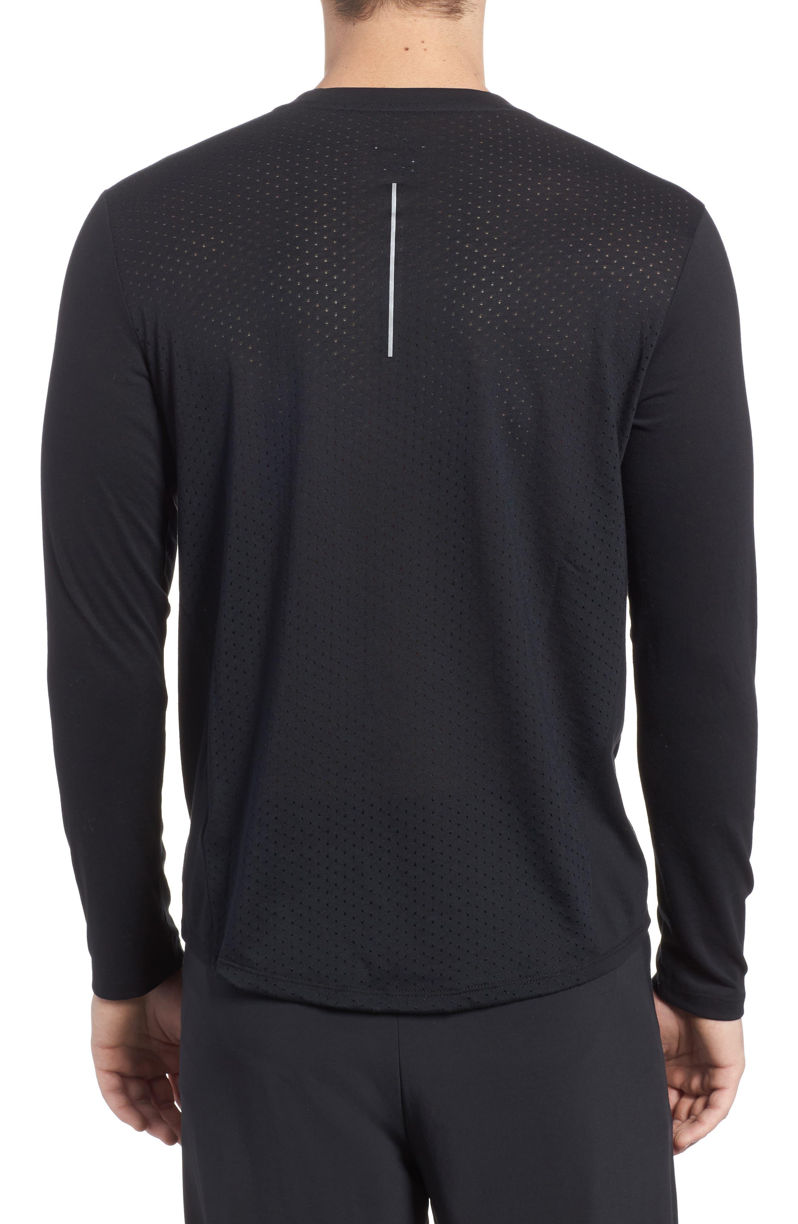 Tailwind Long Sleeve Running T-Shirt,                             Alternate thumbnail 2, color,                             010