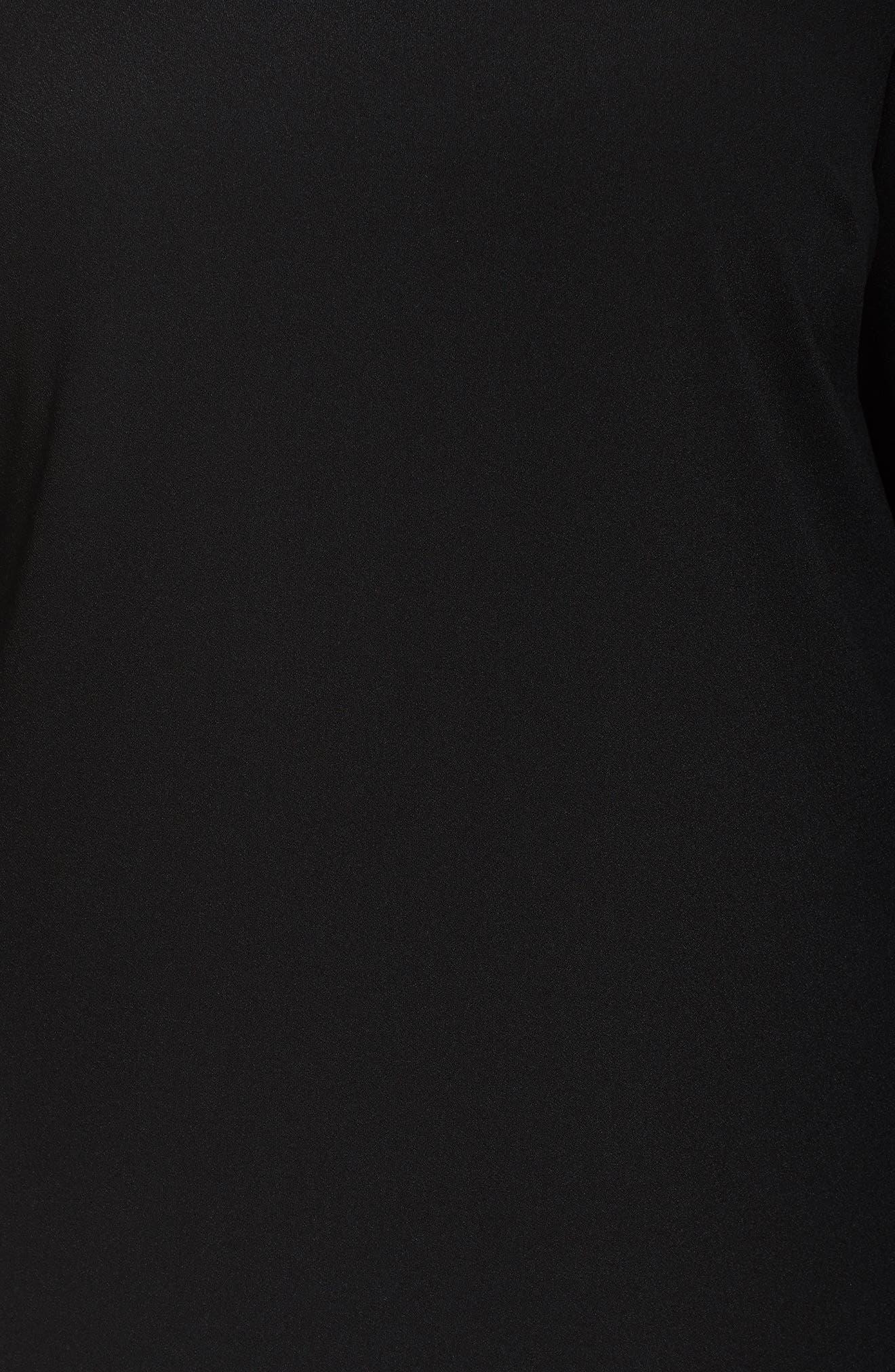 Split Tie Sleeve Shift Dress,                             Alternate thumbnail 5, color,                             001
