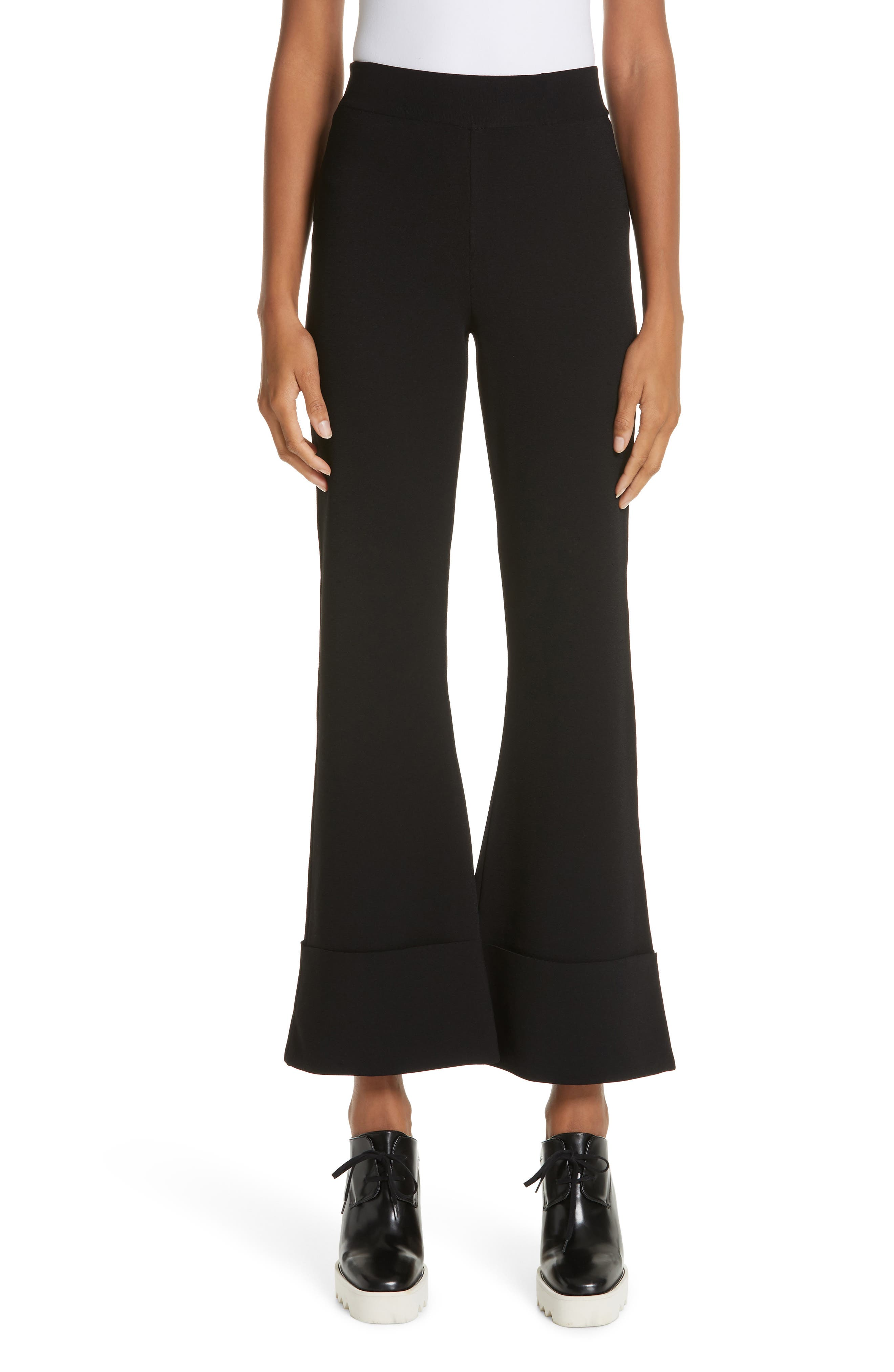 Stella Mccartney Flare Leg Pull-On Ankle Pants