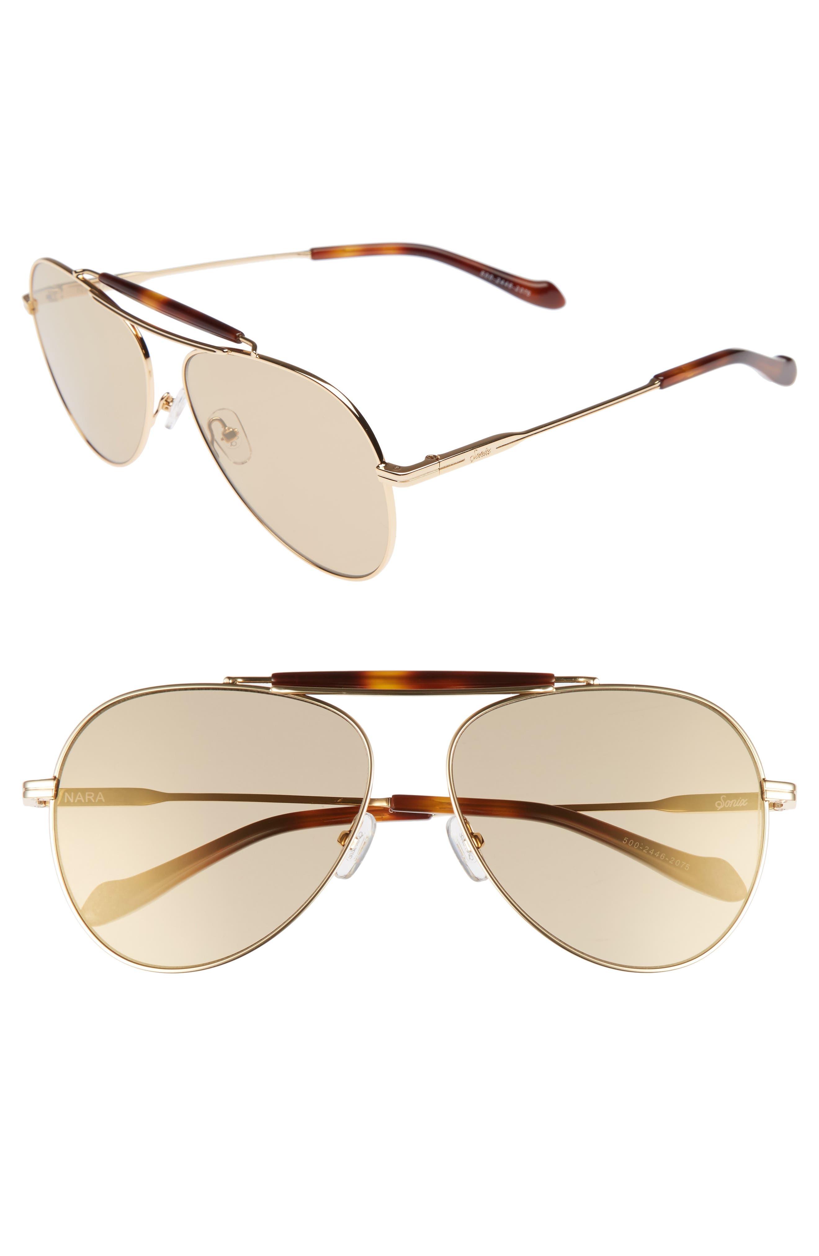 Nara 60mm Aviator Sunglasses,                             Main thumbnail 2, color,