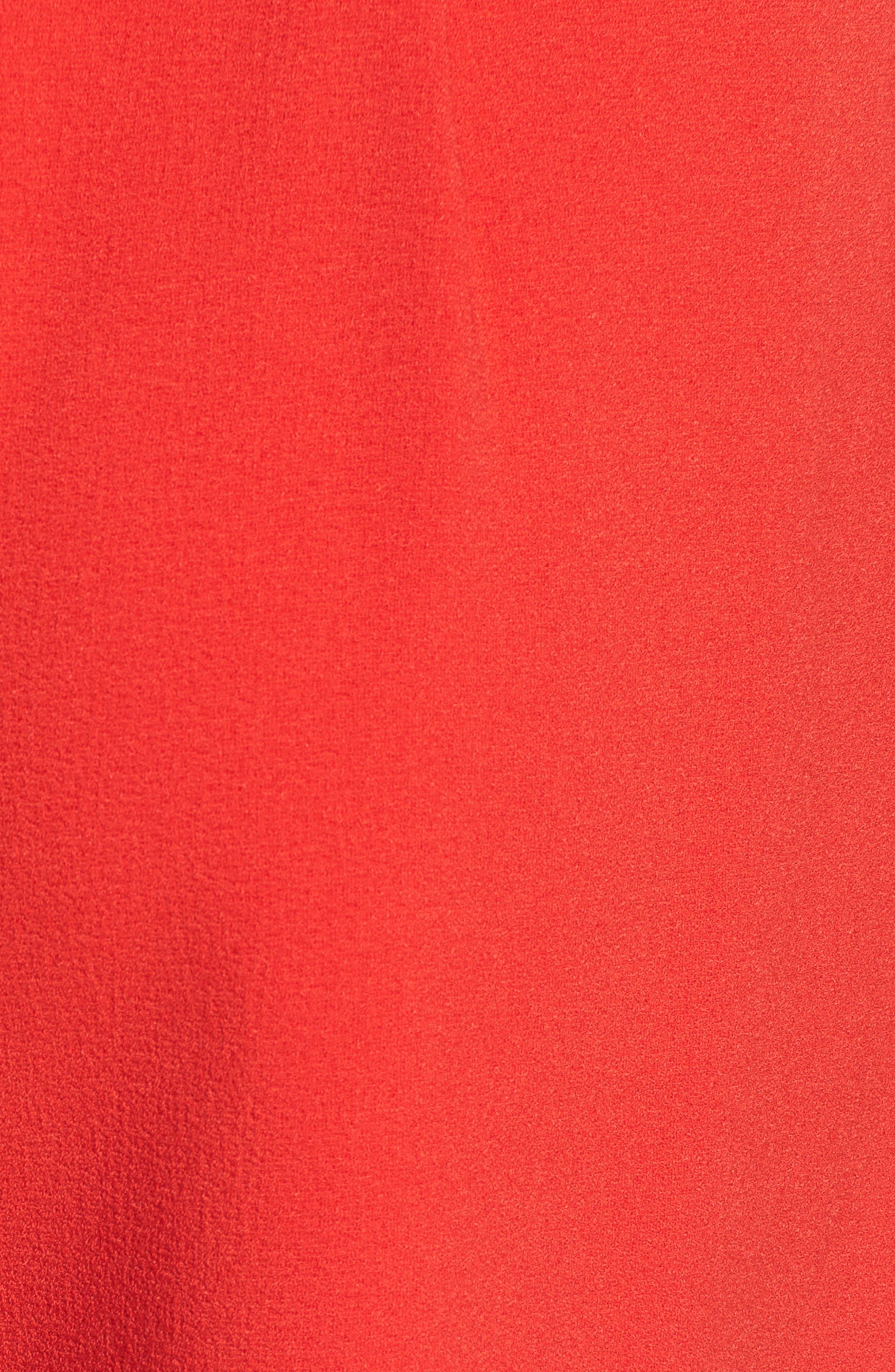 Tie Waist Shorts,                             Alternate thumbnail 5, color,                             RED LIPSTICK