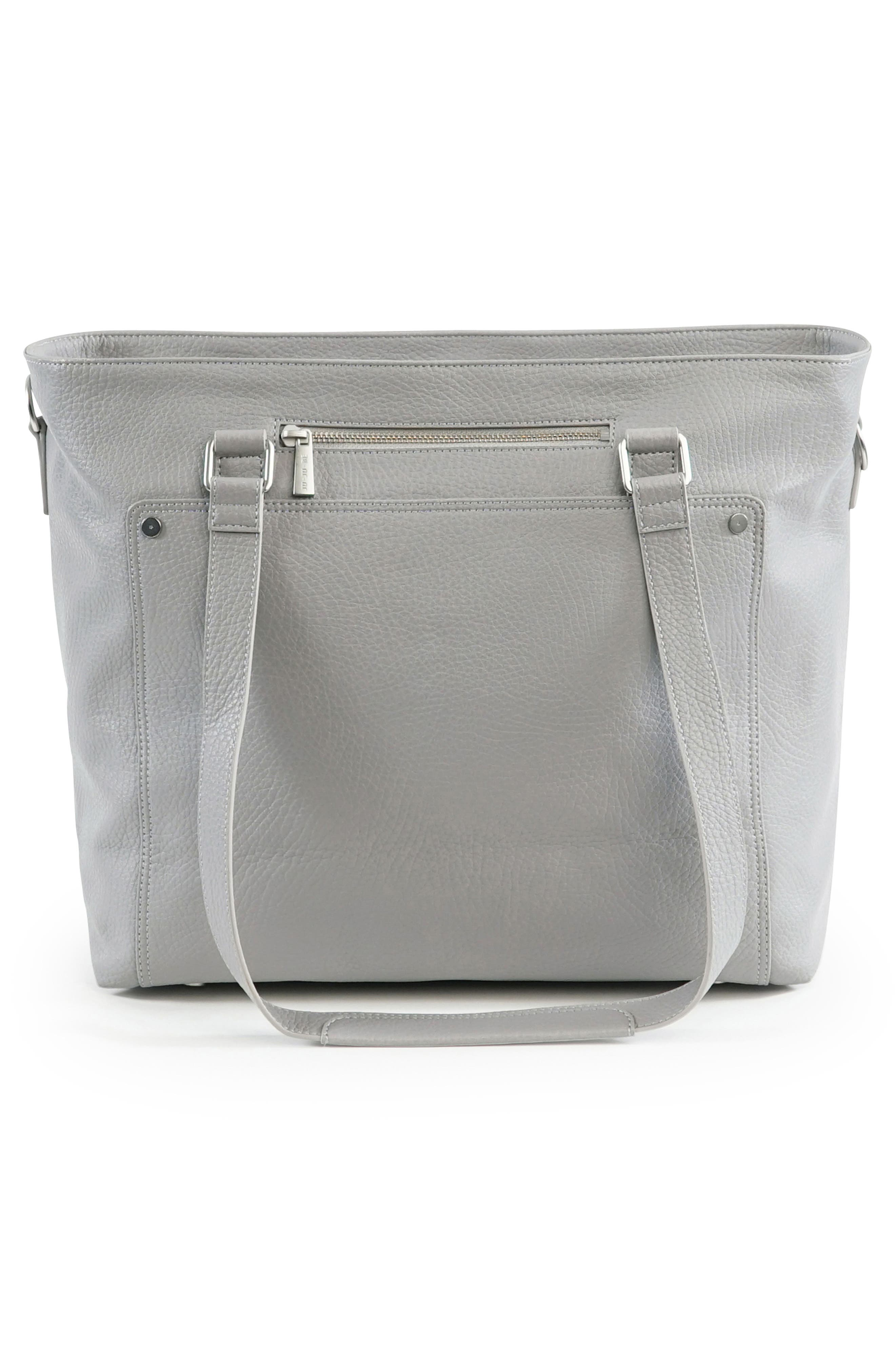 Ever Collection Everyday Faux Leather Diaper Tote,                             Alternate thumbnail 2, color,                             STONE