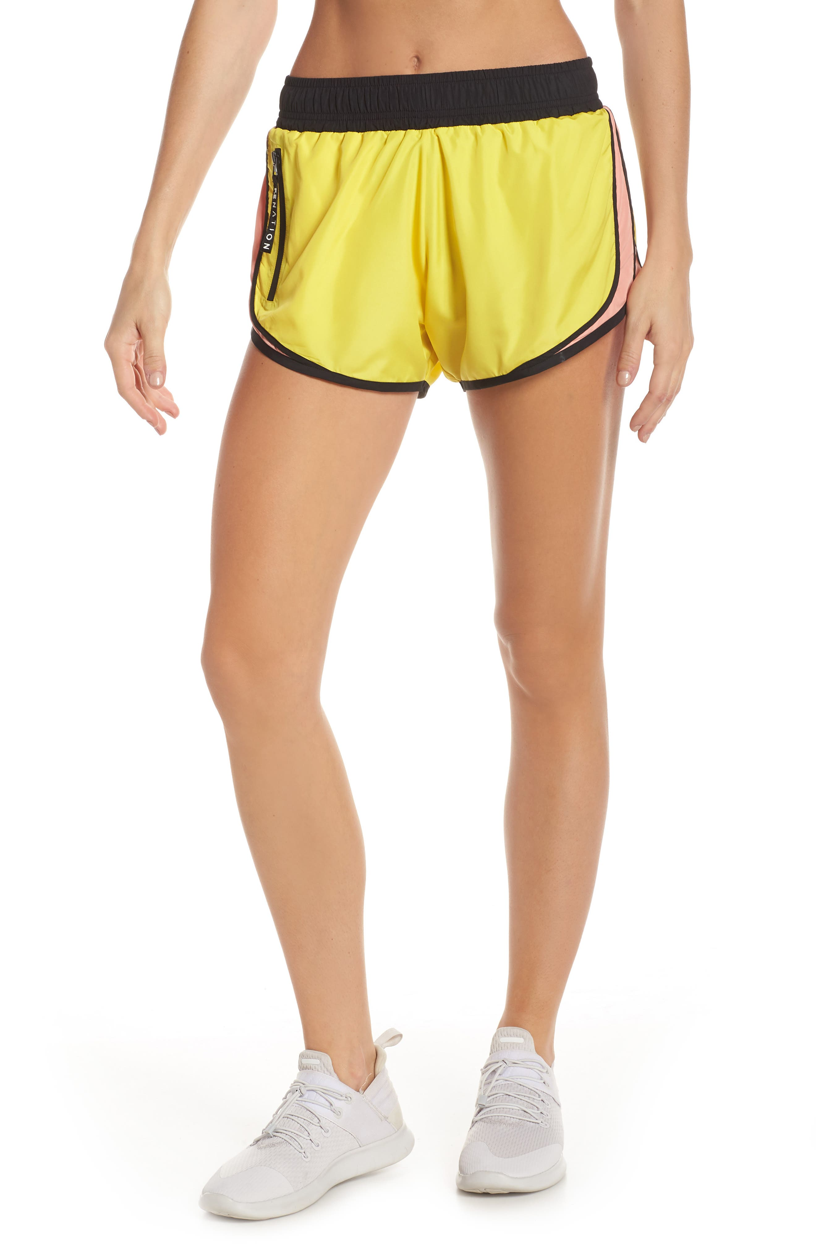Sprint Vision Shorts,                             Main thumbnail 1, color,                             YELLOW