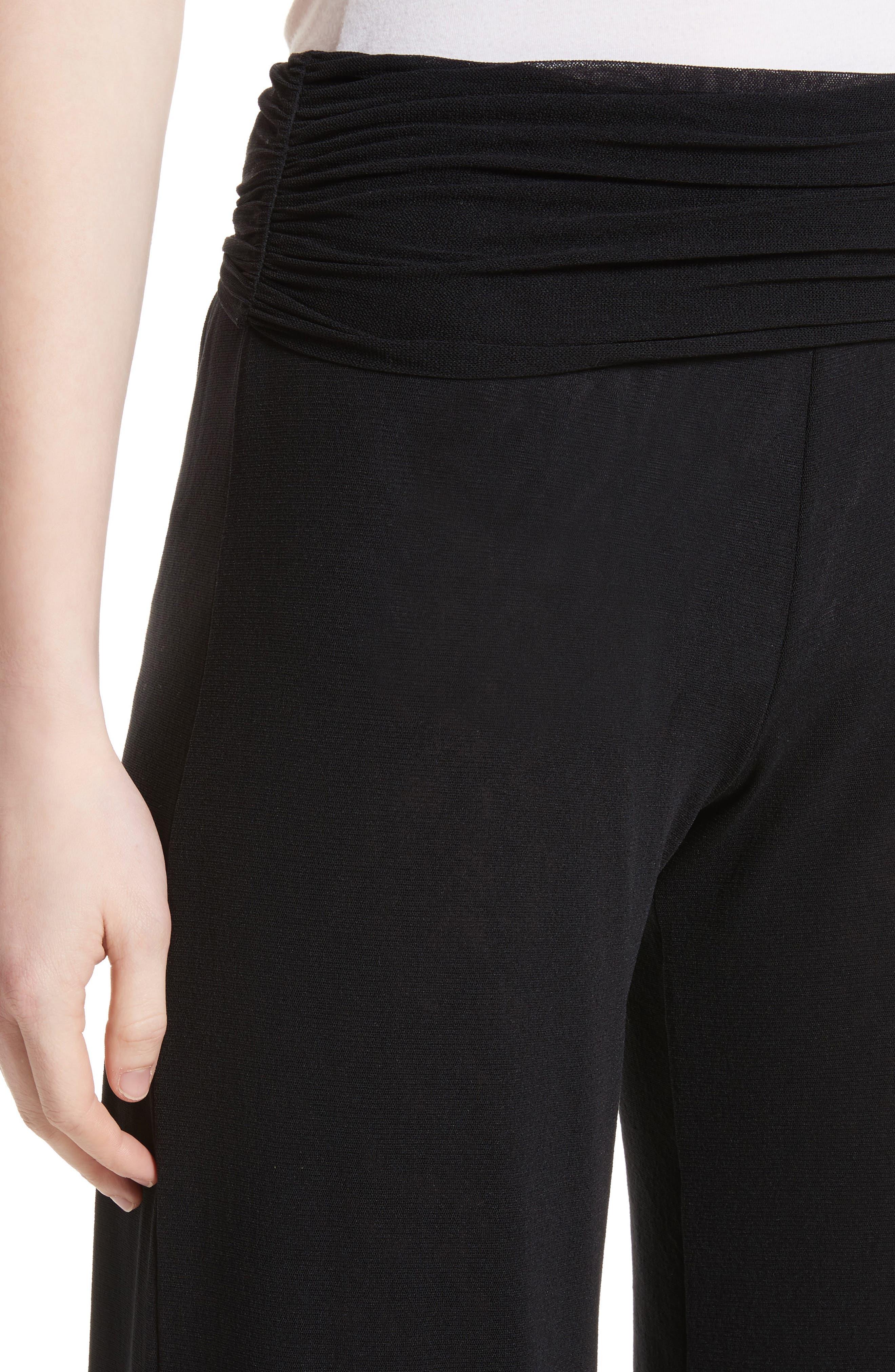 Tulle Wide Leg Pants,                             Alternate thumbnail 4, color,                             001
