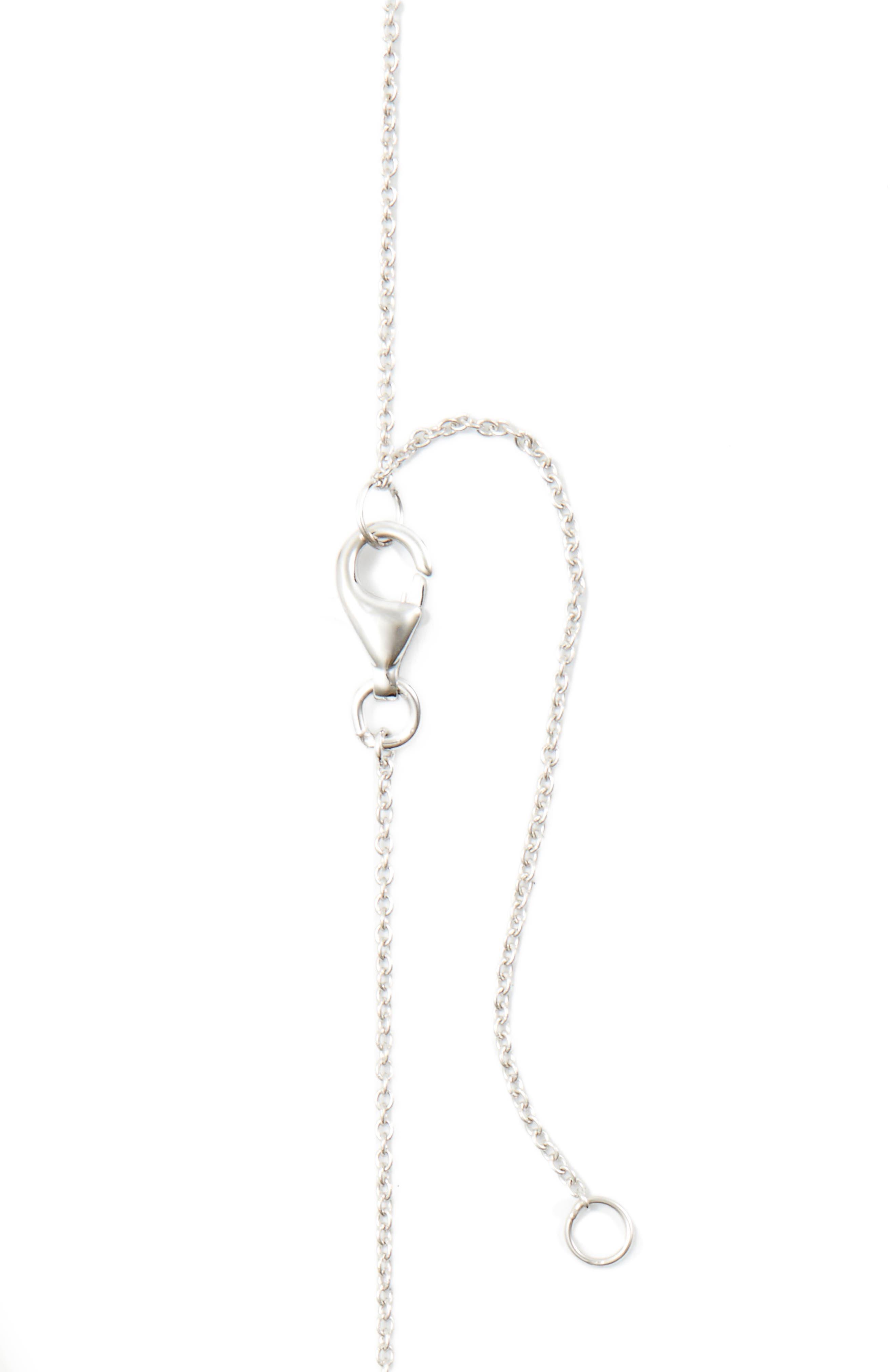 Wavy Bar Diamond Pendant Necklace,                             Alternate thumbnail 3, color,                             711