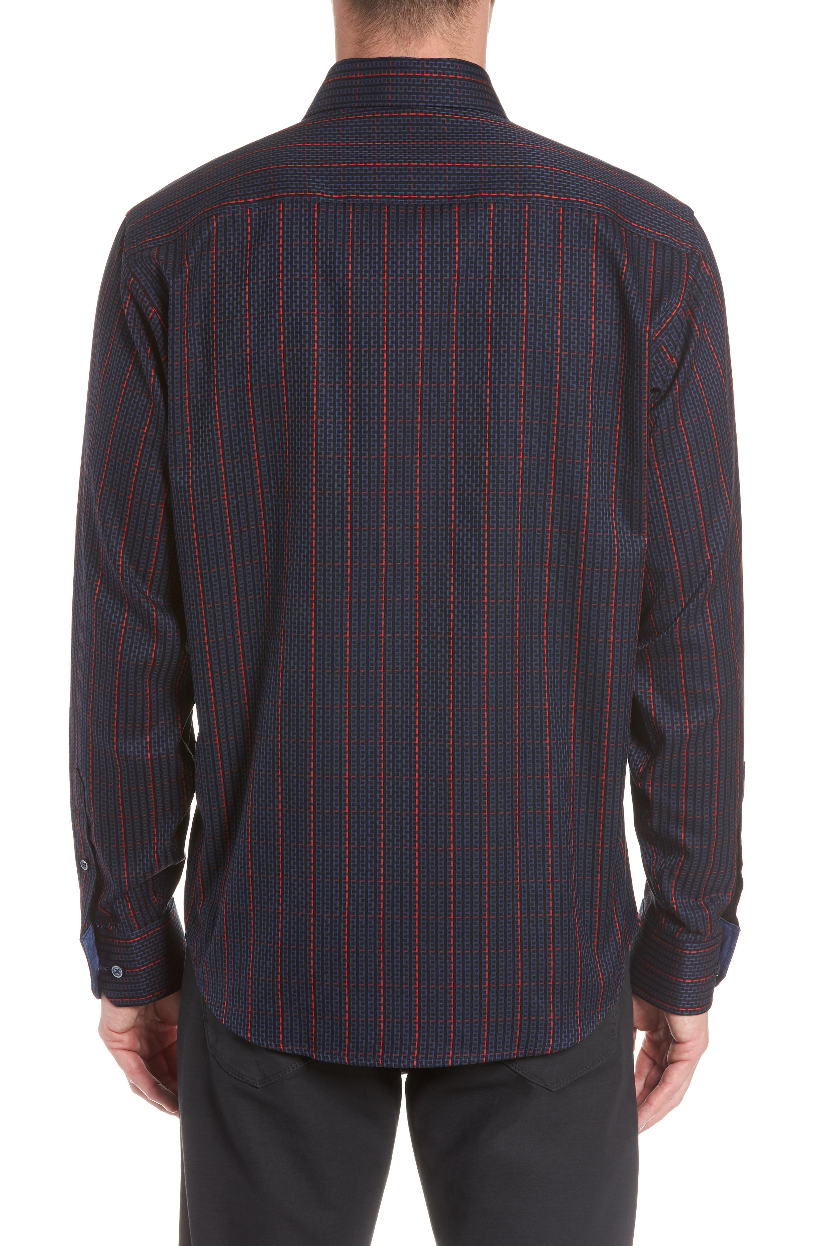Classic Fit Woven Sport Shirt,                             Alternate thumbnail 3, color,                             408