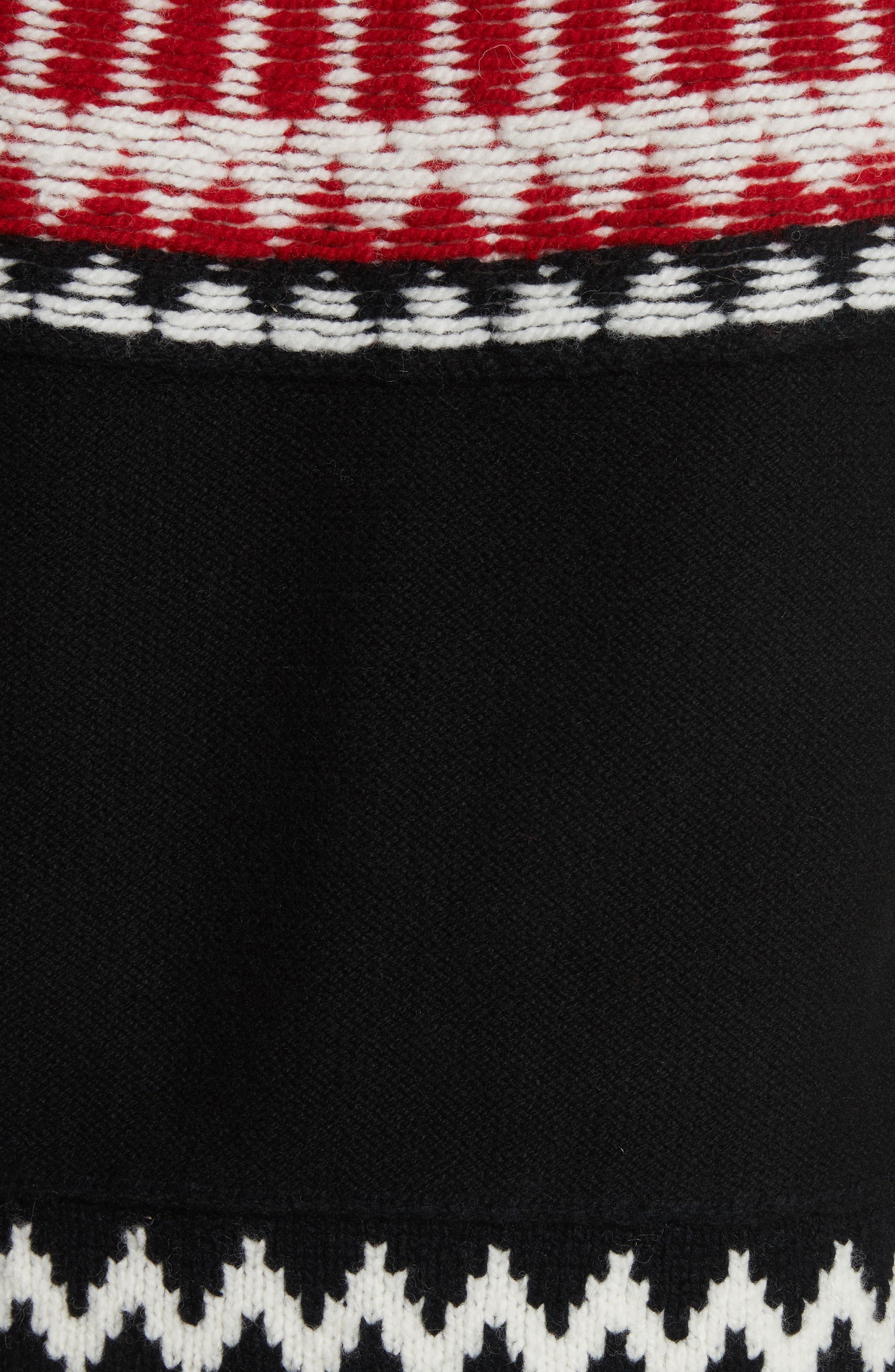 Rycroft Wool & Cashmere Blend Sweater,                             Alternate thumbnail 5, color,                             001