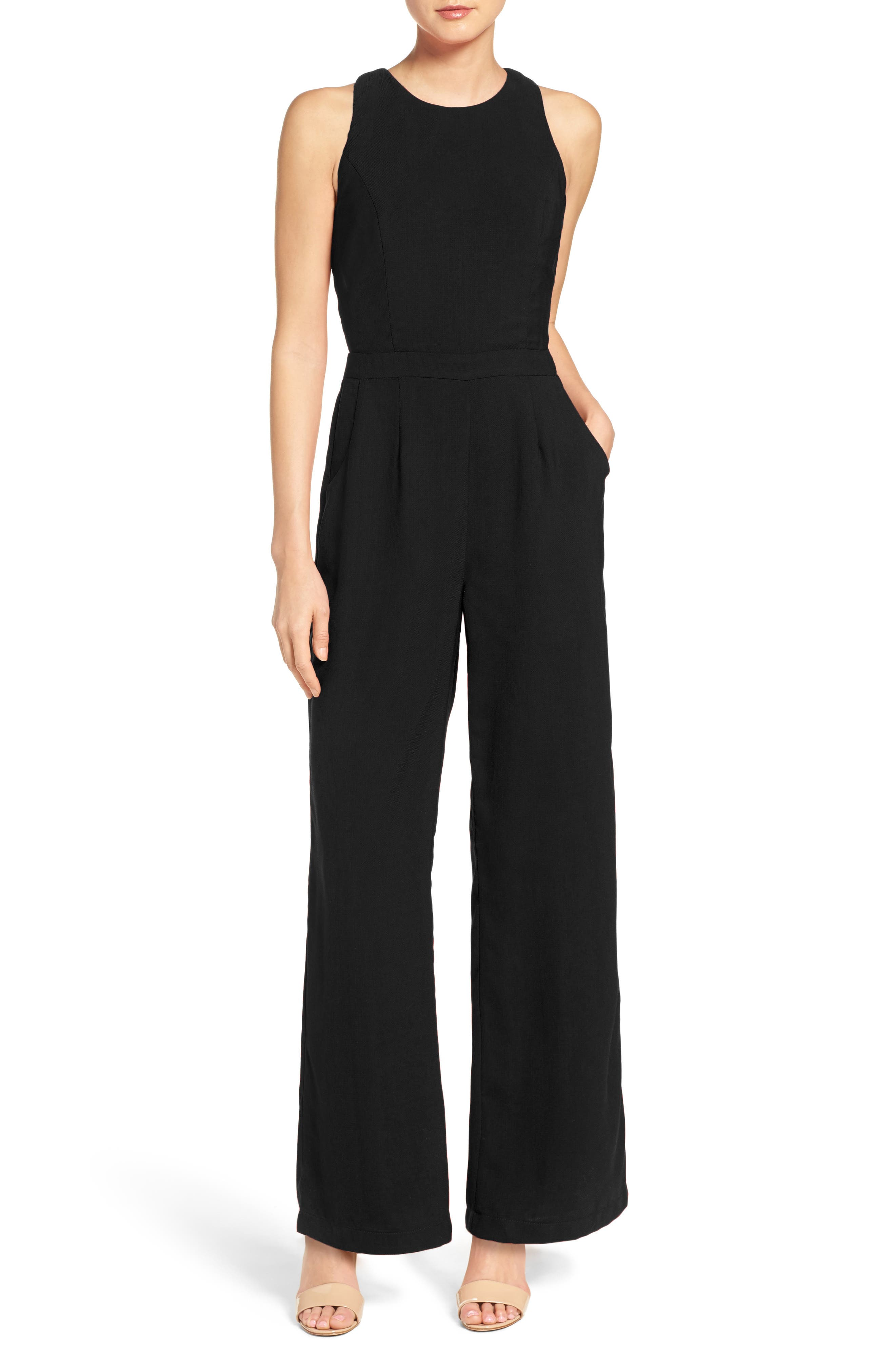 Wide Leg Jumpsuit,                         Main,                         color, 001