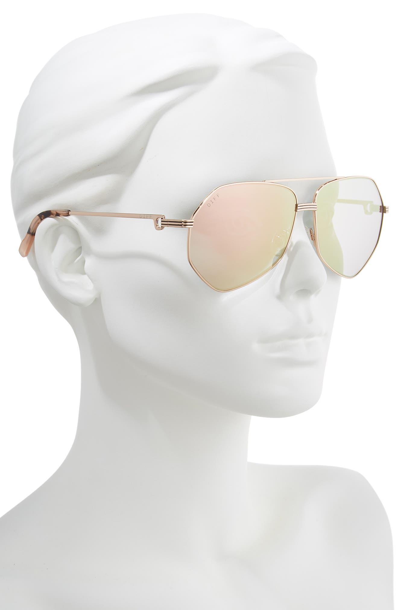 Sydney 62mm Polarized Aviator Sunglasses,                             Alternate thumbnail 2, color,                             GOLD/ HIMALAYAN/ CHAMPAGNE