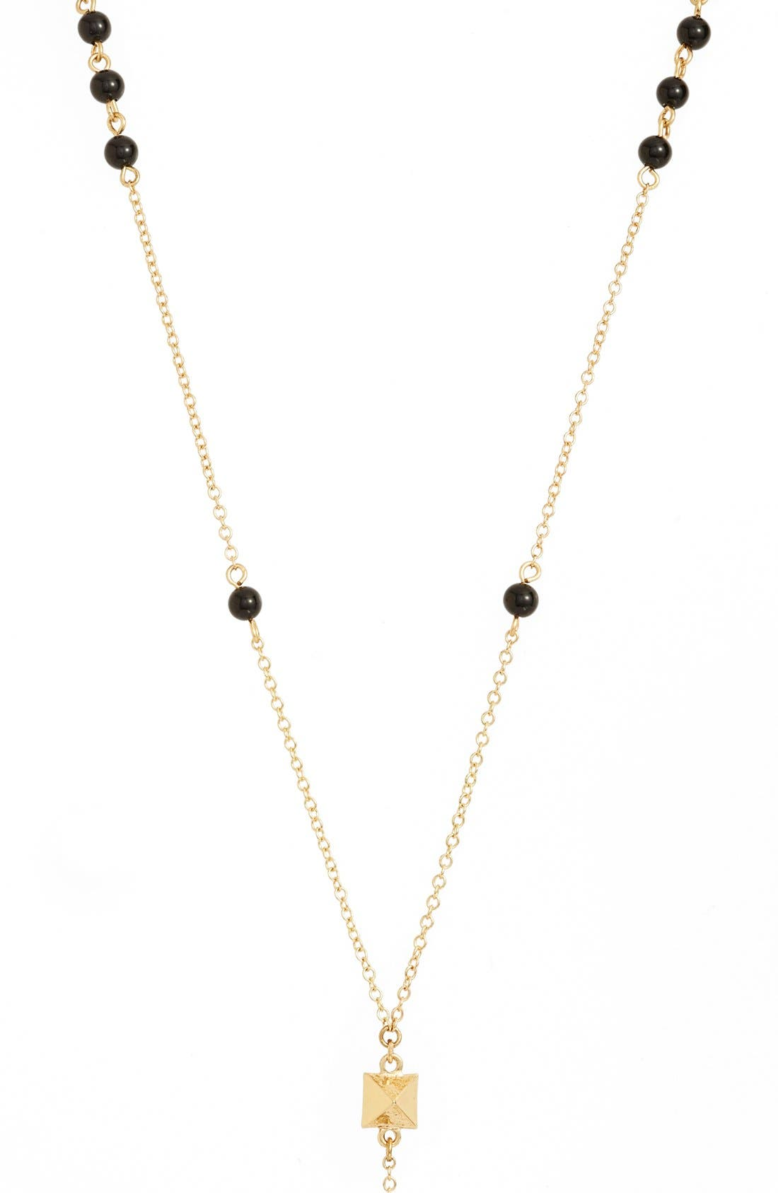 'Waiting in Line' Beaded Onyx Y-Chain Necklace,                             Alternate thumbnail 2, color,                             710