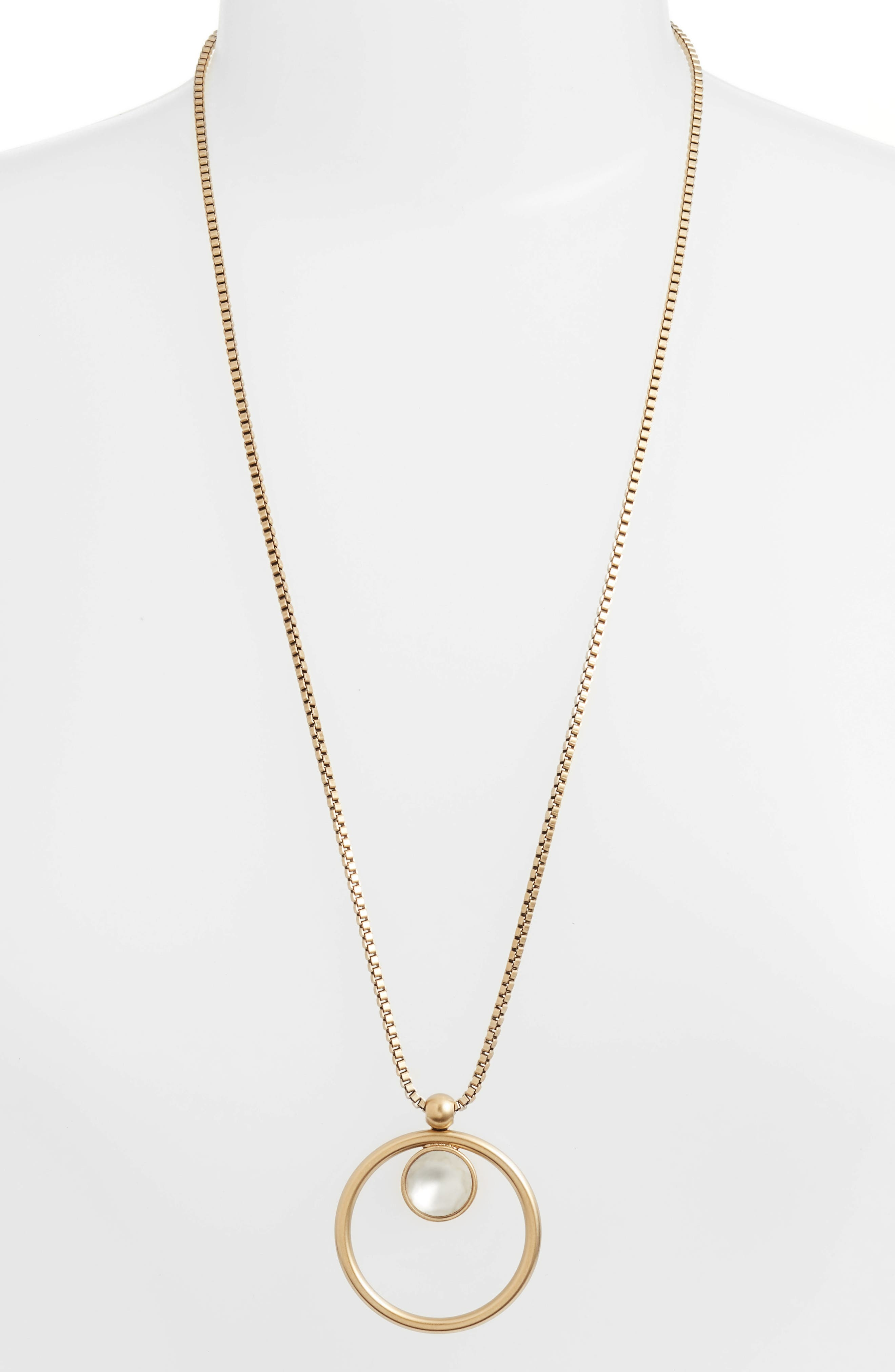 Cecilia Box Chain Necklace,                         Main,                         color, 100