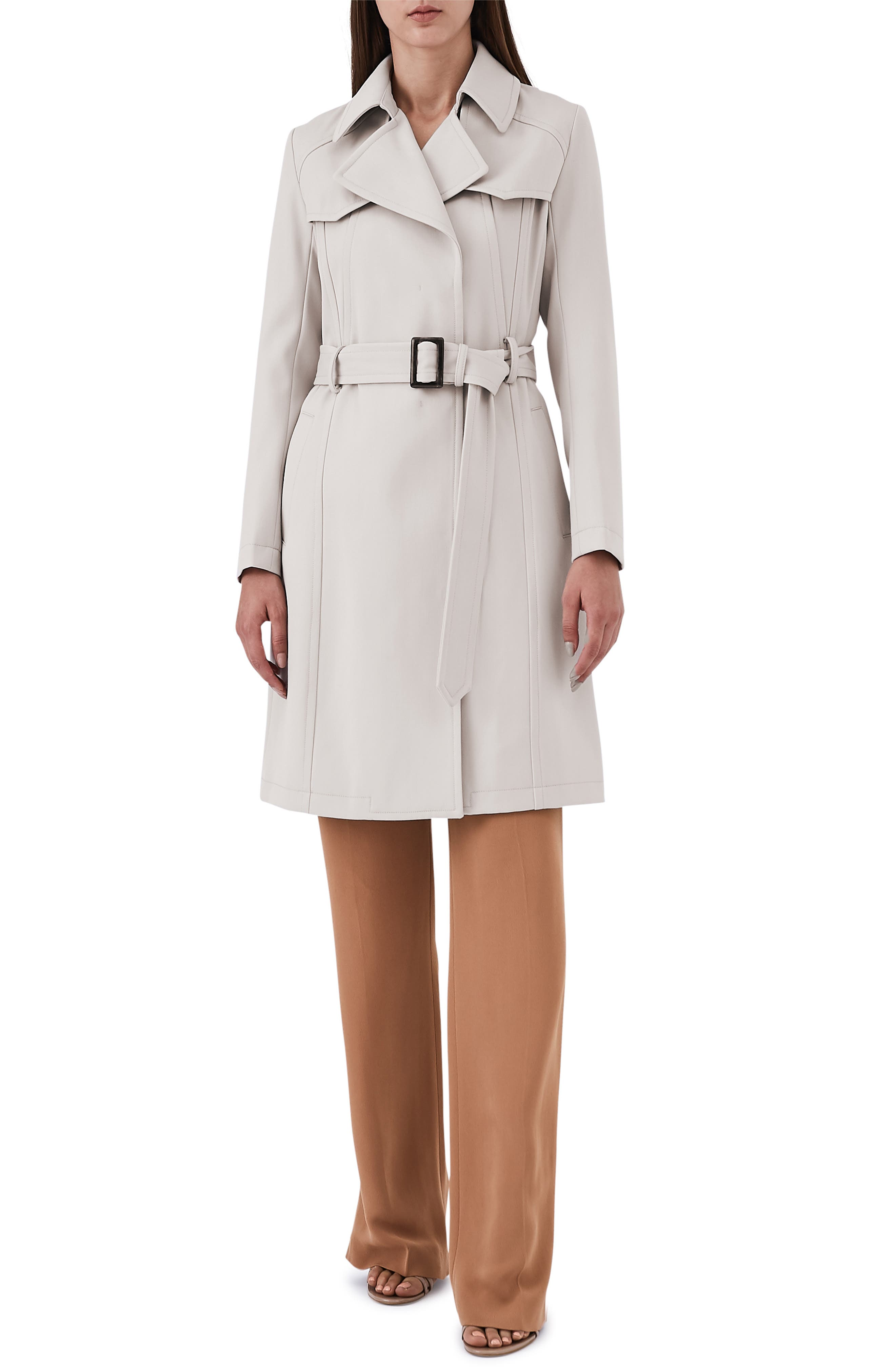 Hurley Belted Wool Blend Coat,                         Main,                         color, NEUTRAL