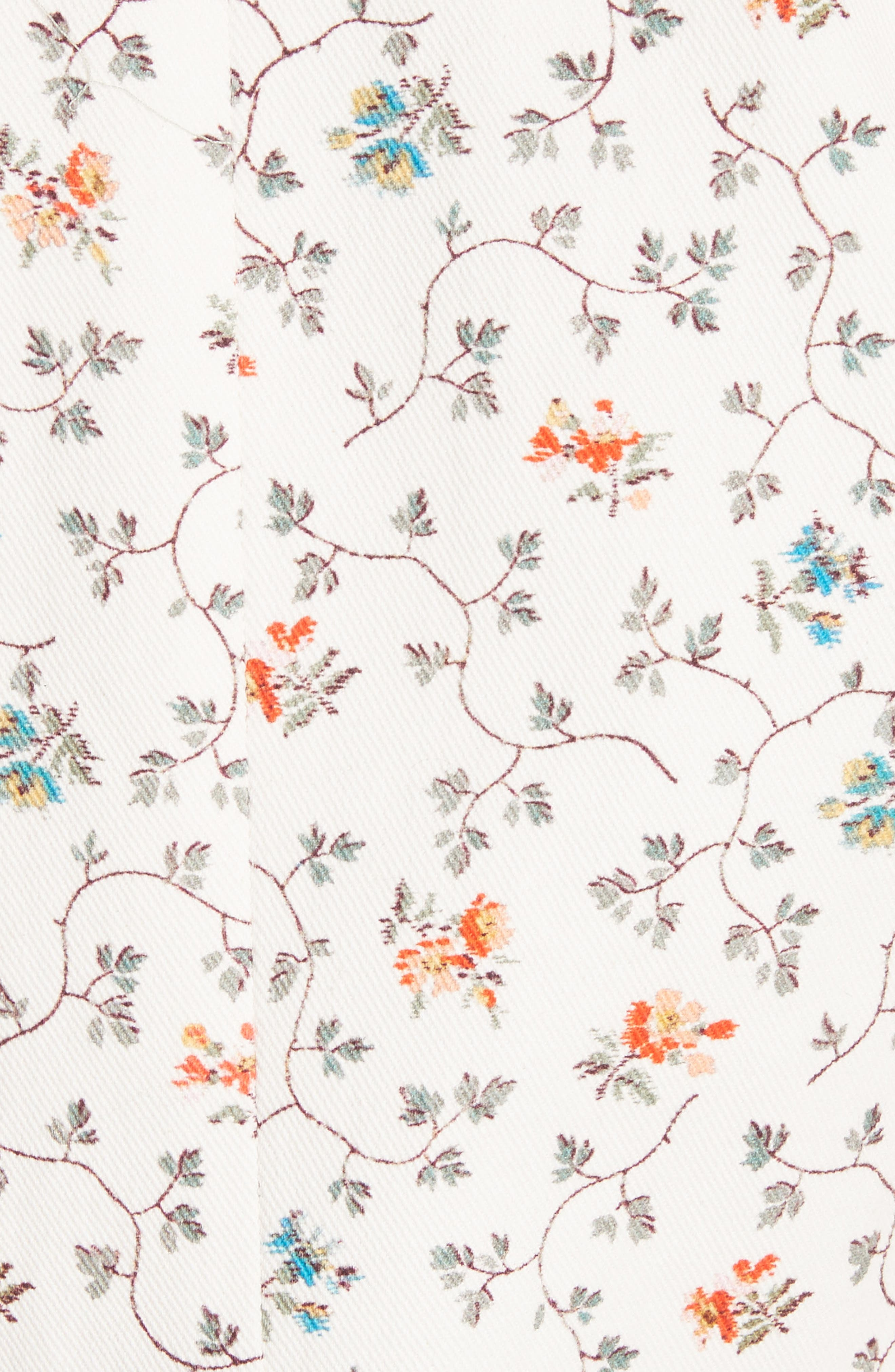 Floral Vine Twill Jacket,                             Alternate thumbnail 6, color,                             909