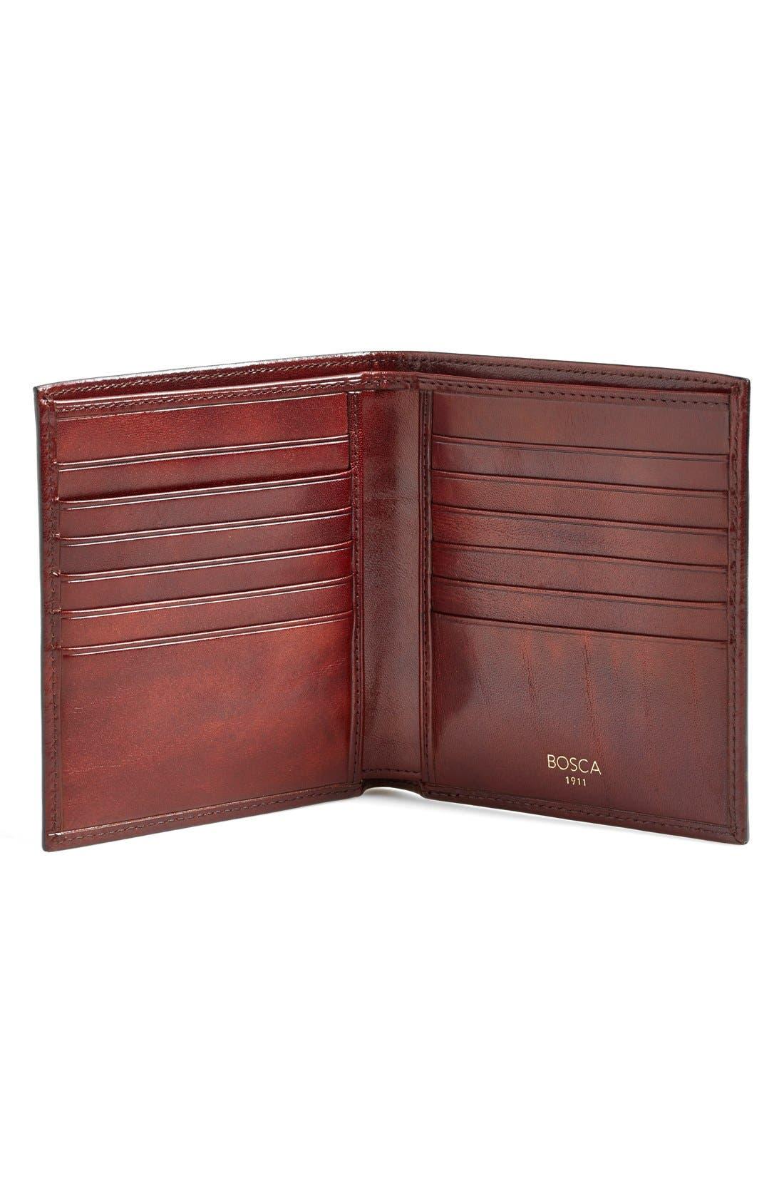 'Old Leather' Credit Wallet,                             Alternate thumbnail 3, color,                             DARK BROWN