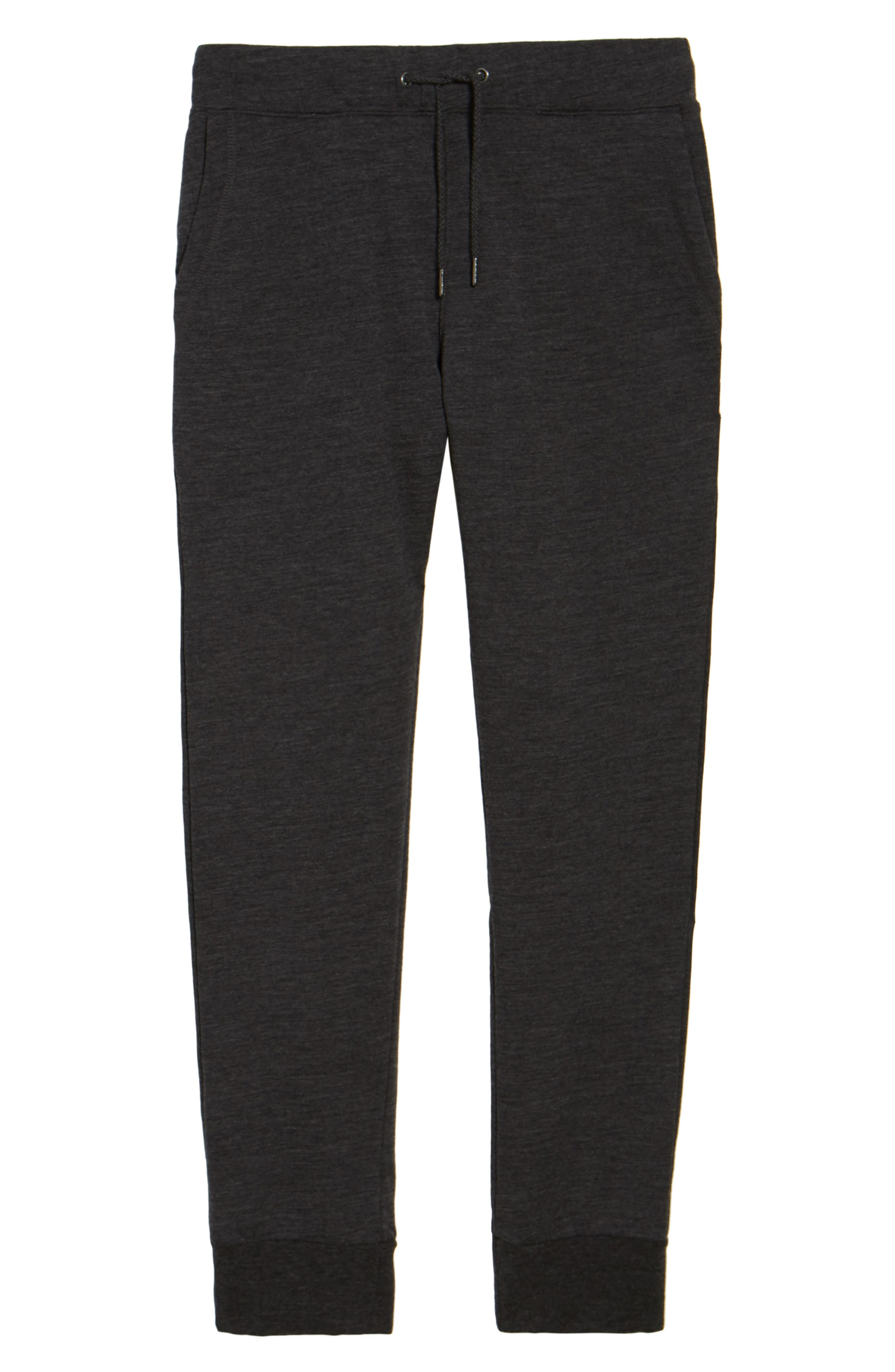 Merino Wool Fleece Jogger Pants,                             Alternate thumbnail 6, color,