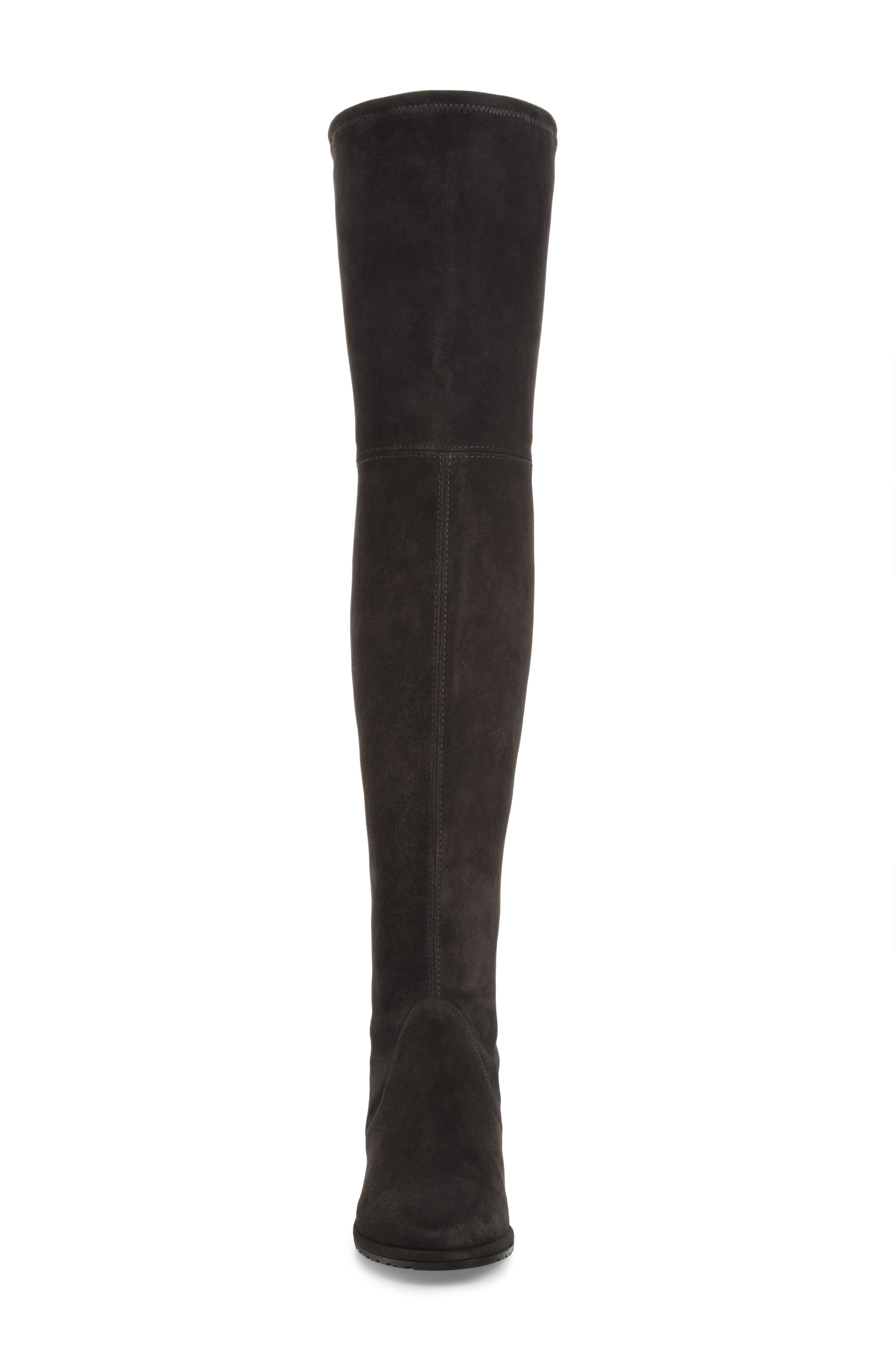 'Lowland' Over the Knee Boot,                             Alternate thumbnail 4, color,                             ASPHALT SUEDE