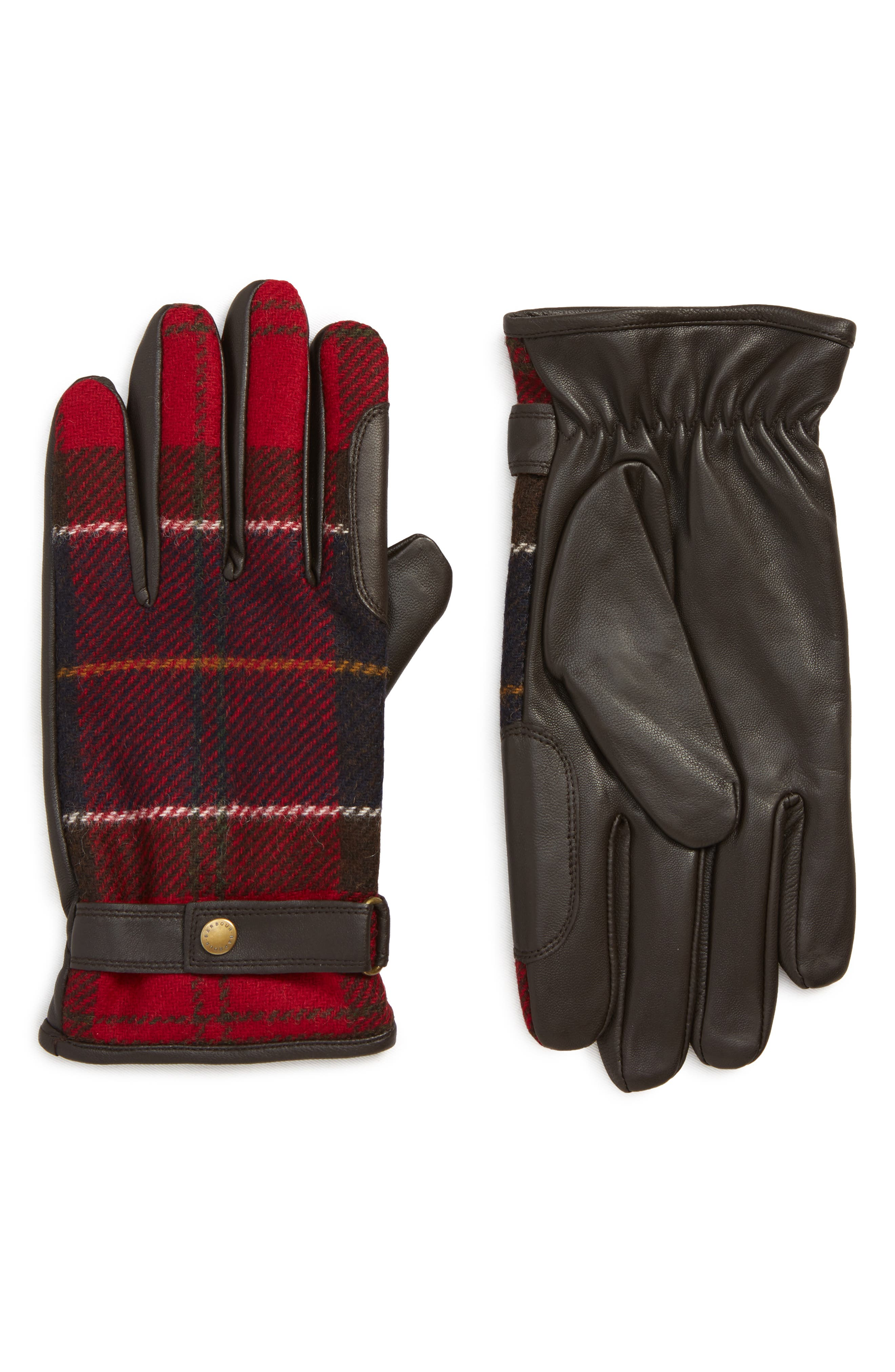 Barbour Newbrough Gloves, Red