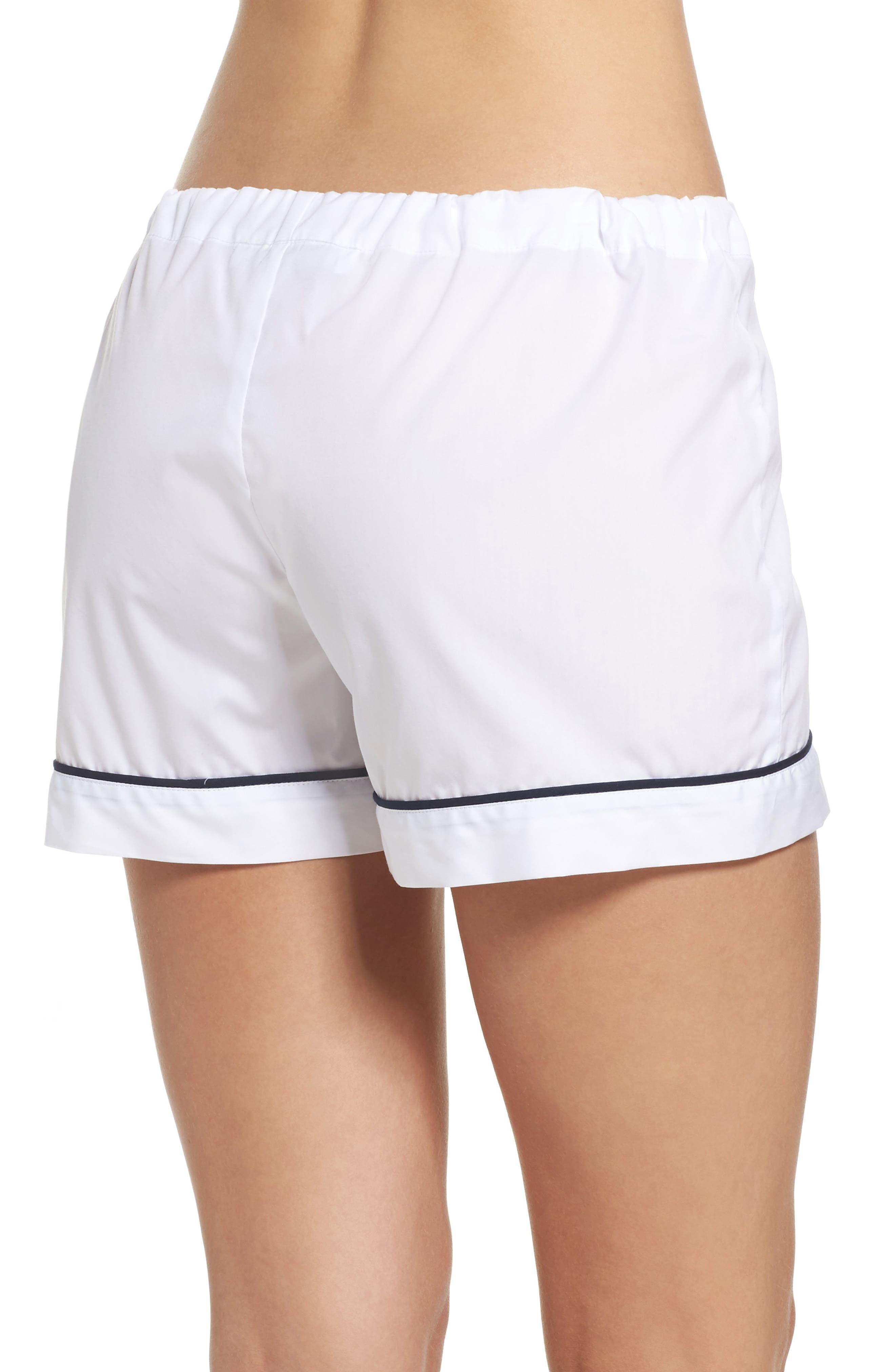 Piped Pajama Shorts,                             Alternate thumbnail 2, color,                             100