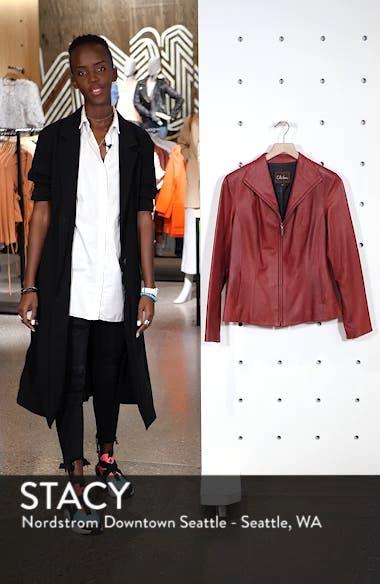 Lambskin Leather Scuba Jacket, sales video thumbnail