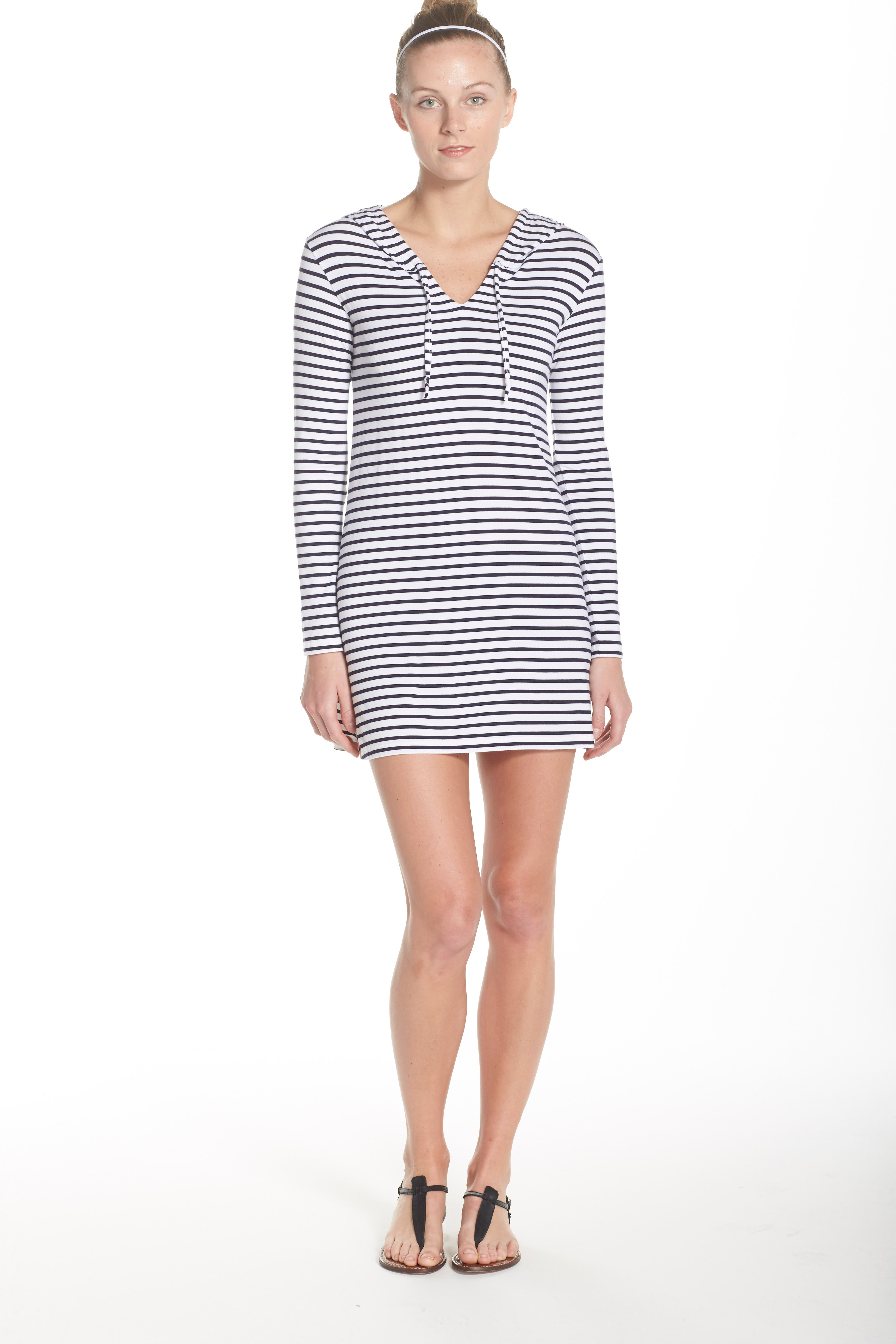 Print Hooded UPF 50 Cover-Up,                             Alternate thumbnail 5, color,                             100