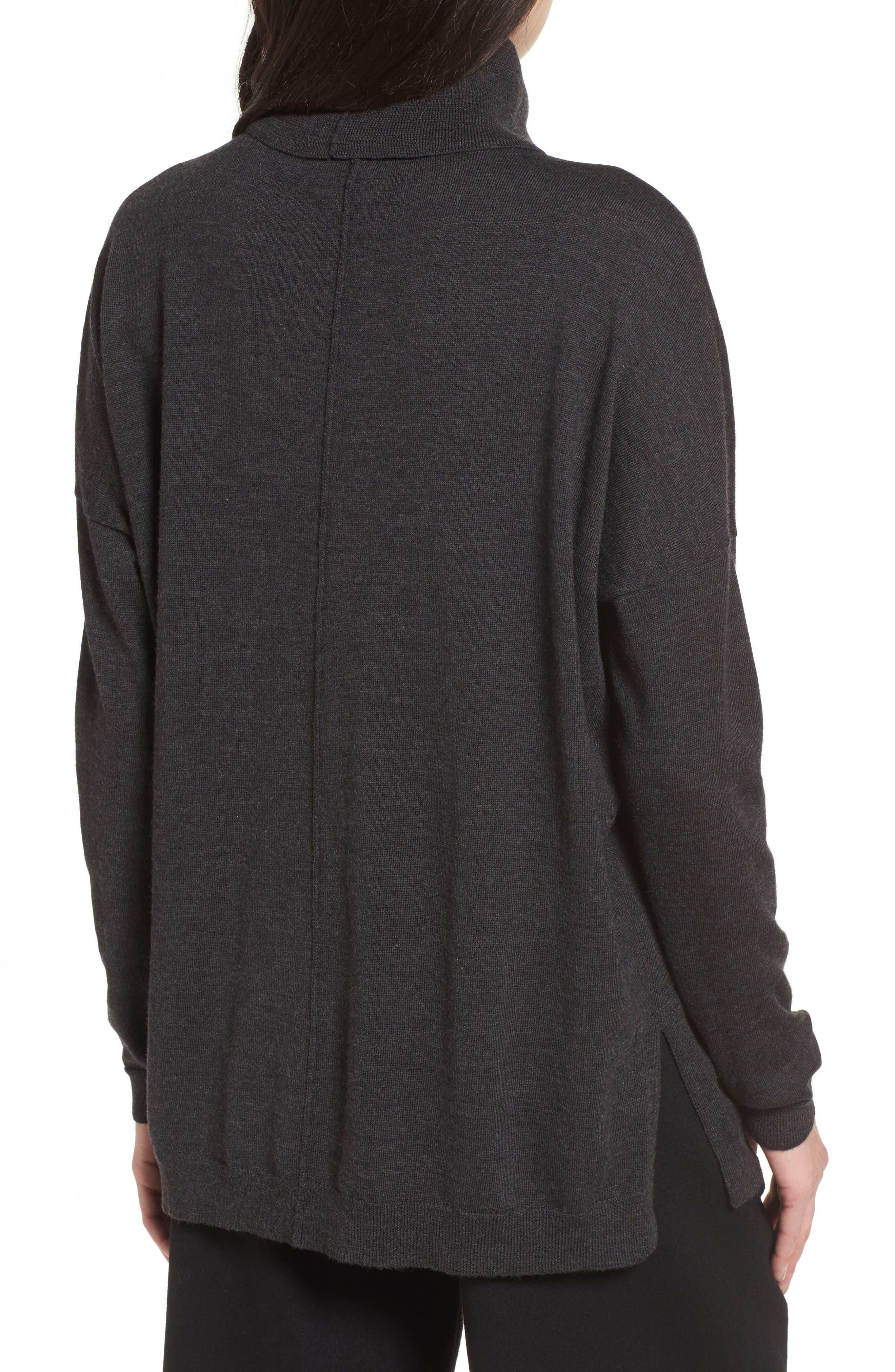 Merino Wool Boxy Turtleneck Sweater,                             Alternate thumbnail 2, color,                             021