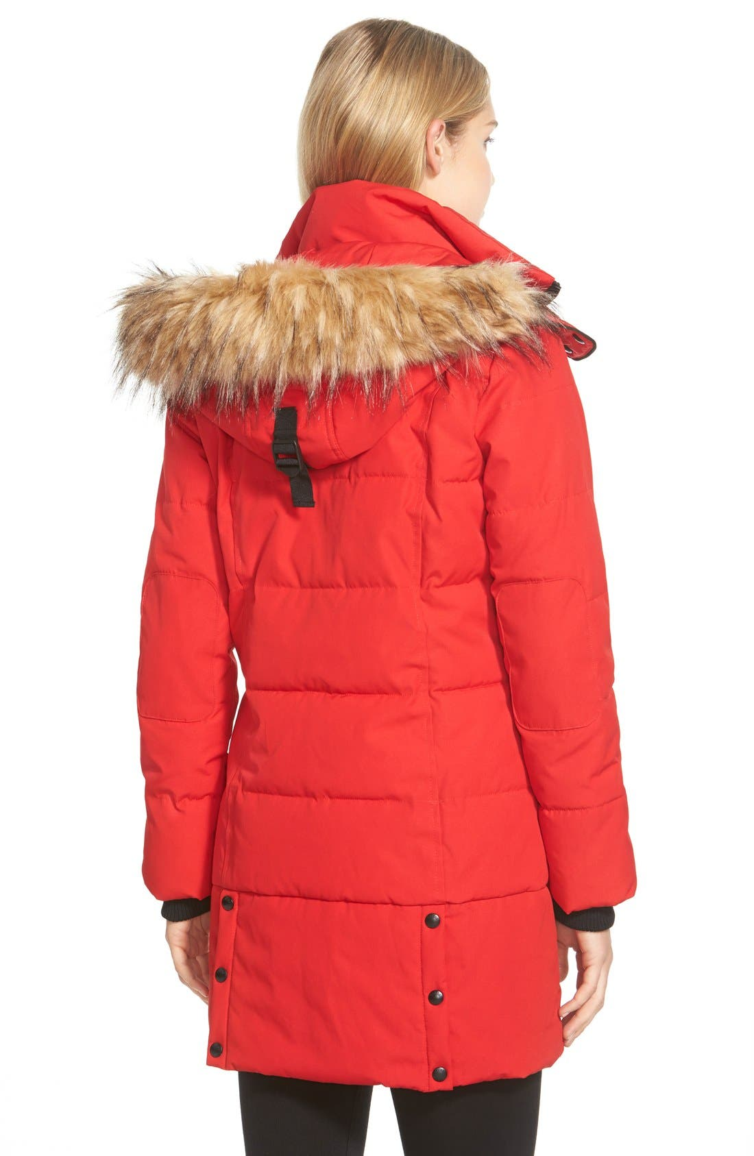 'Expedition' Quilted Parka with Faux Fur Trim,                             Alternate thumbnail 2, color,                             648