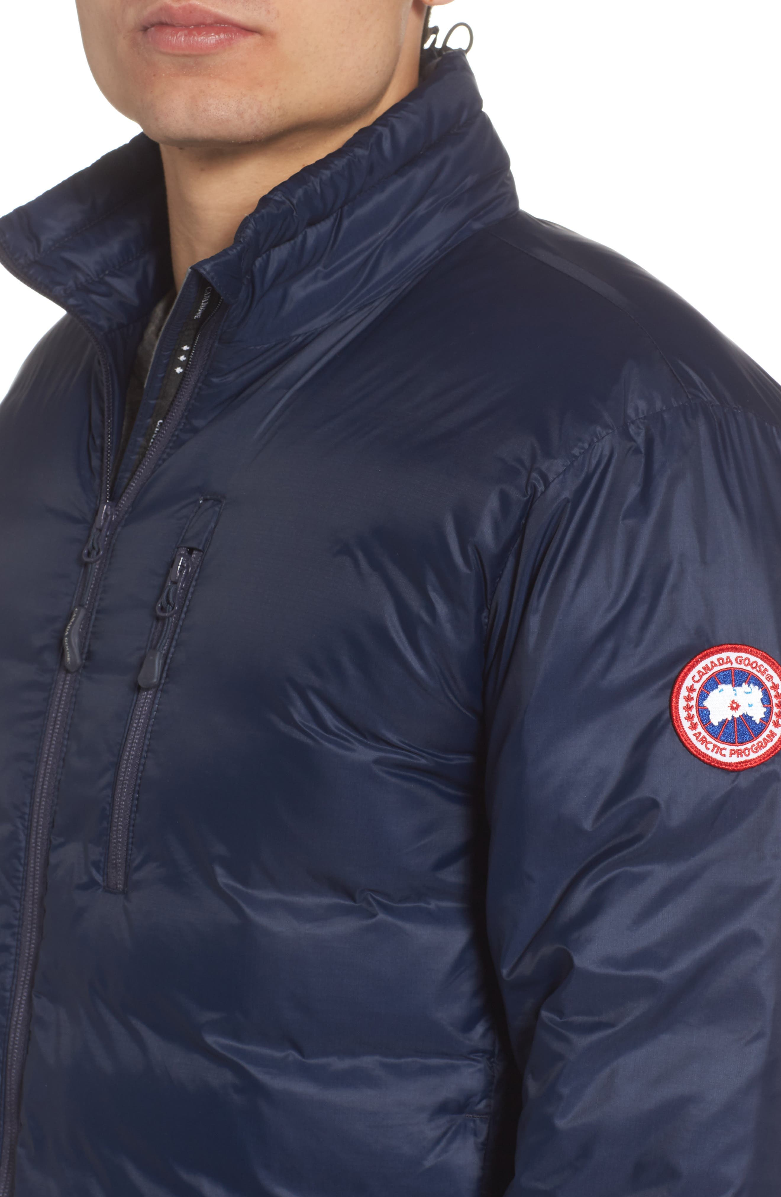 'Lodge' Slim Fit Packable Windproof 750 Down Fill Jacket,                             Alternate thumbnail 4, color,                             ADMIRAL BLUE/ BLACK
