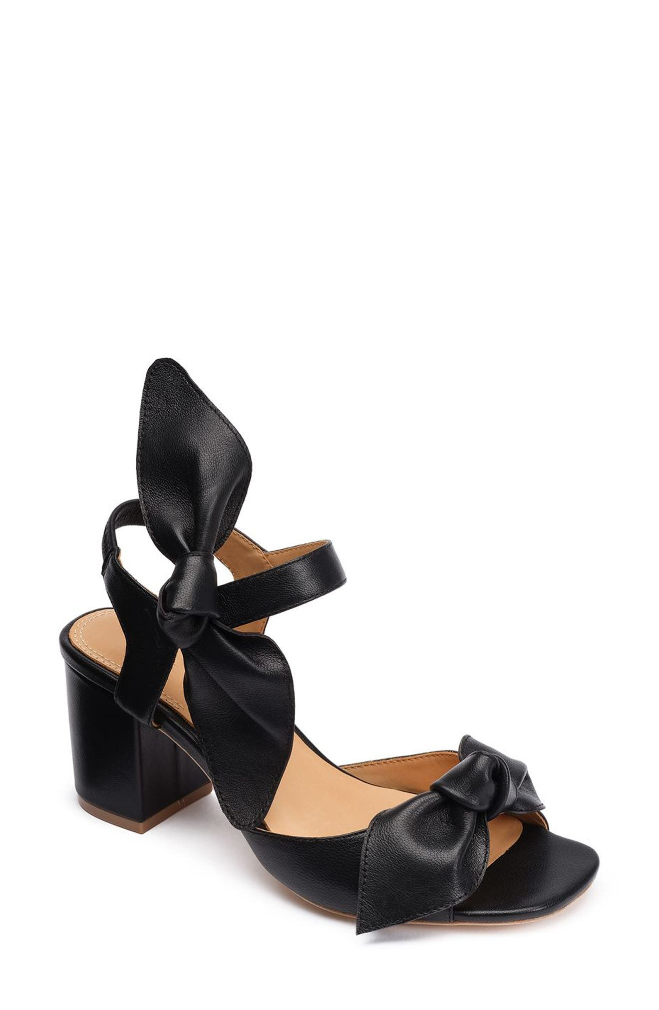 Carmen 65 Knotted Sandal,                             Main thumbnail 1, color,                             001