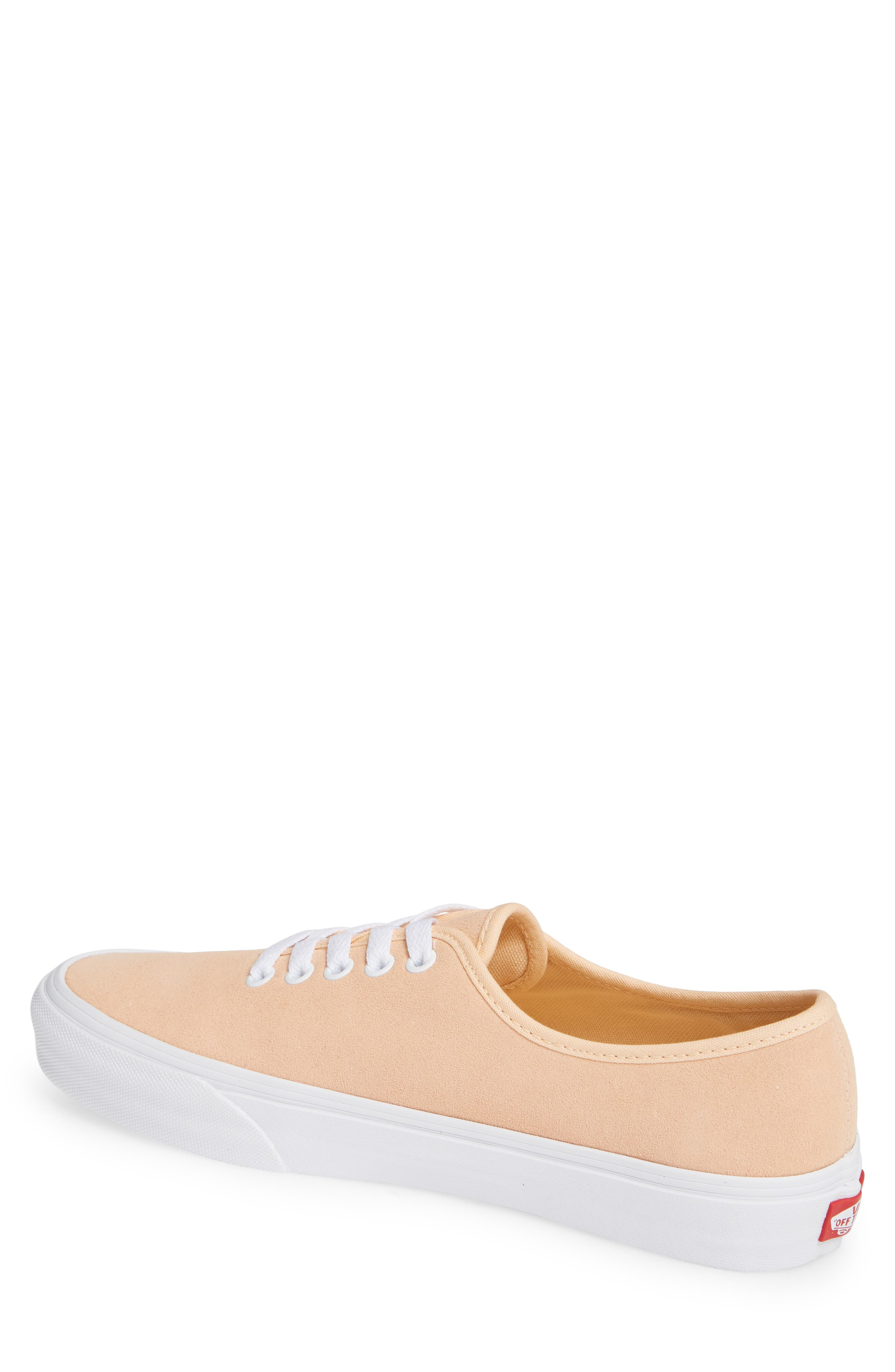 Authentic One-Piece Sneaker,                             Alternate thumbnail 2, color,                             BLEACHED APRICOT/ SUEDE