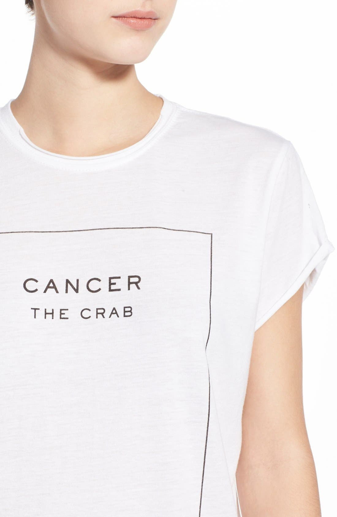 'Cancer' Tee,                             Alternate thumbnail 4, color,                             100