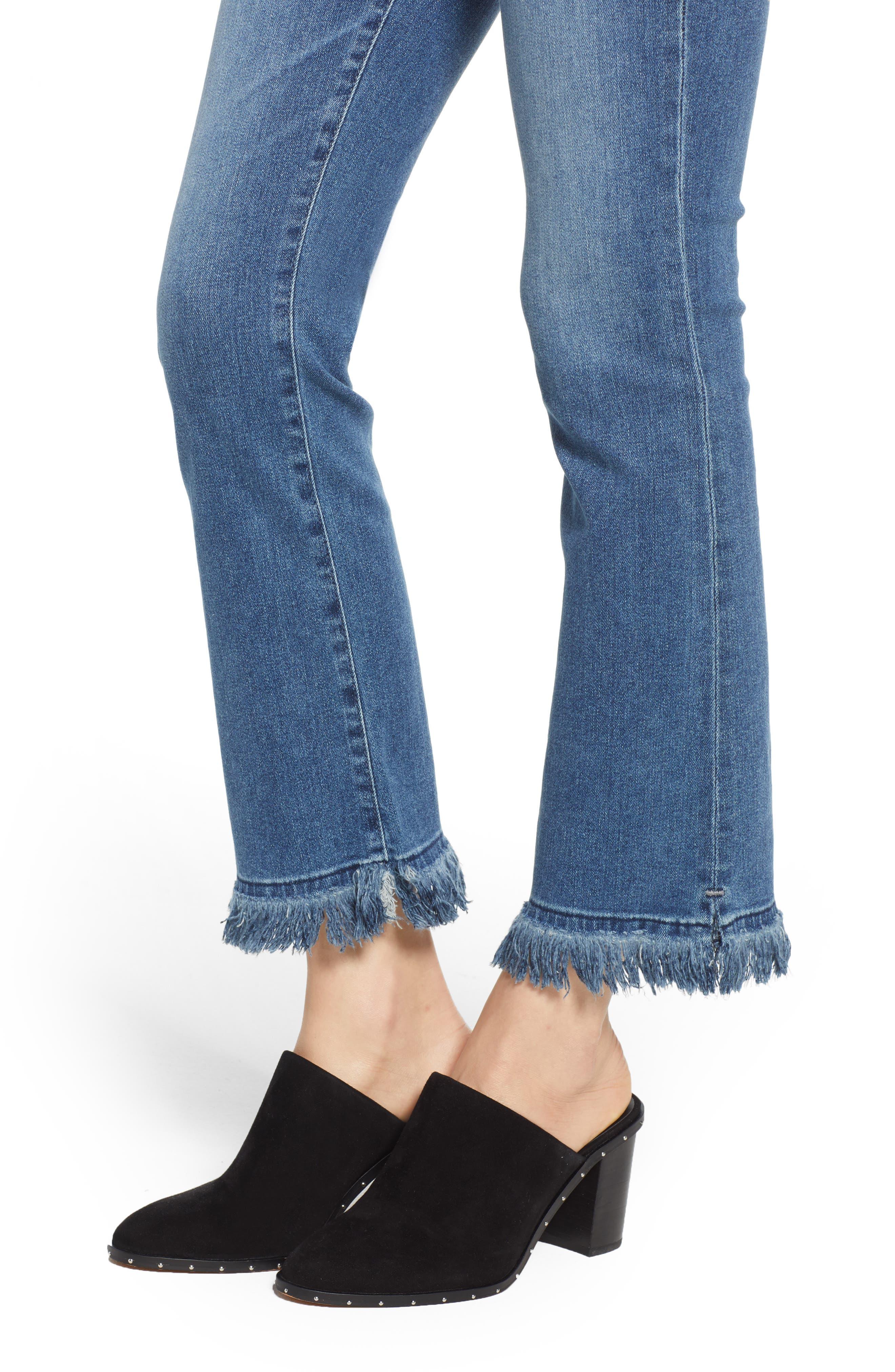 Jodi Crop Fringe Jeans,                             Alternate thumbnail 4, color,                             PASTORAL PLAINS