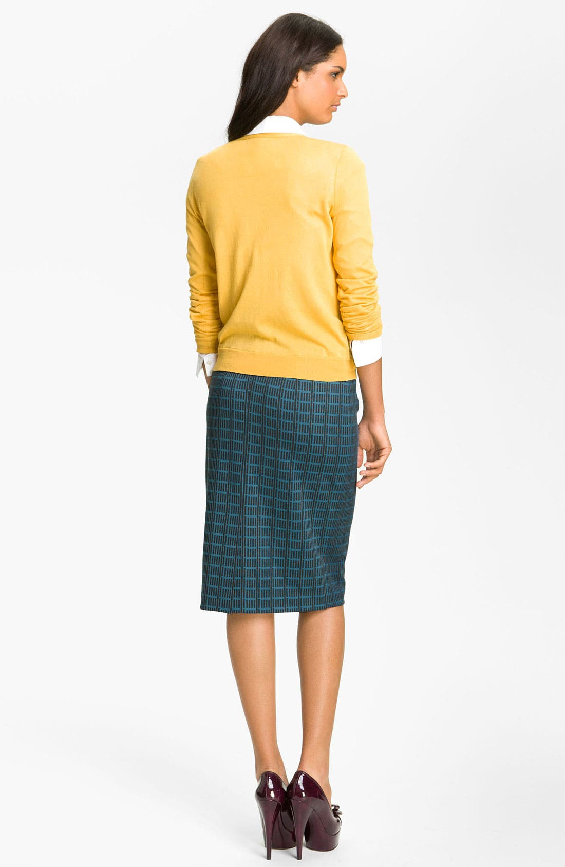 Belted Ponte Skirt,                             Alternate thumbnail 20, color,