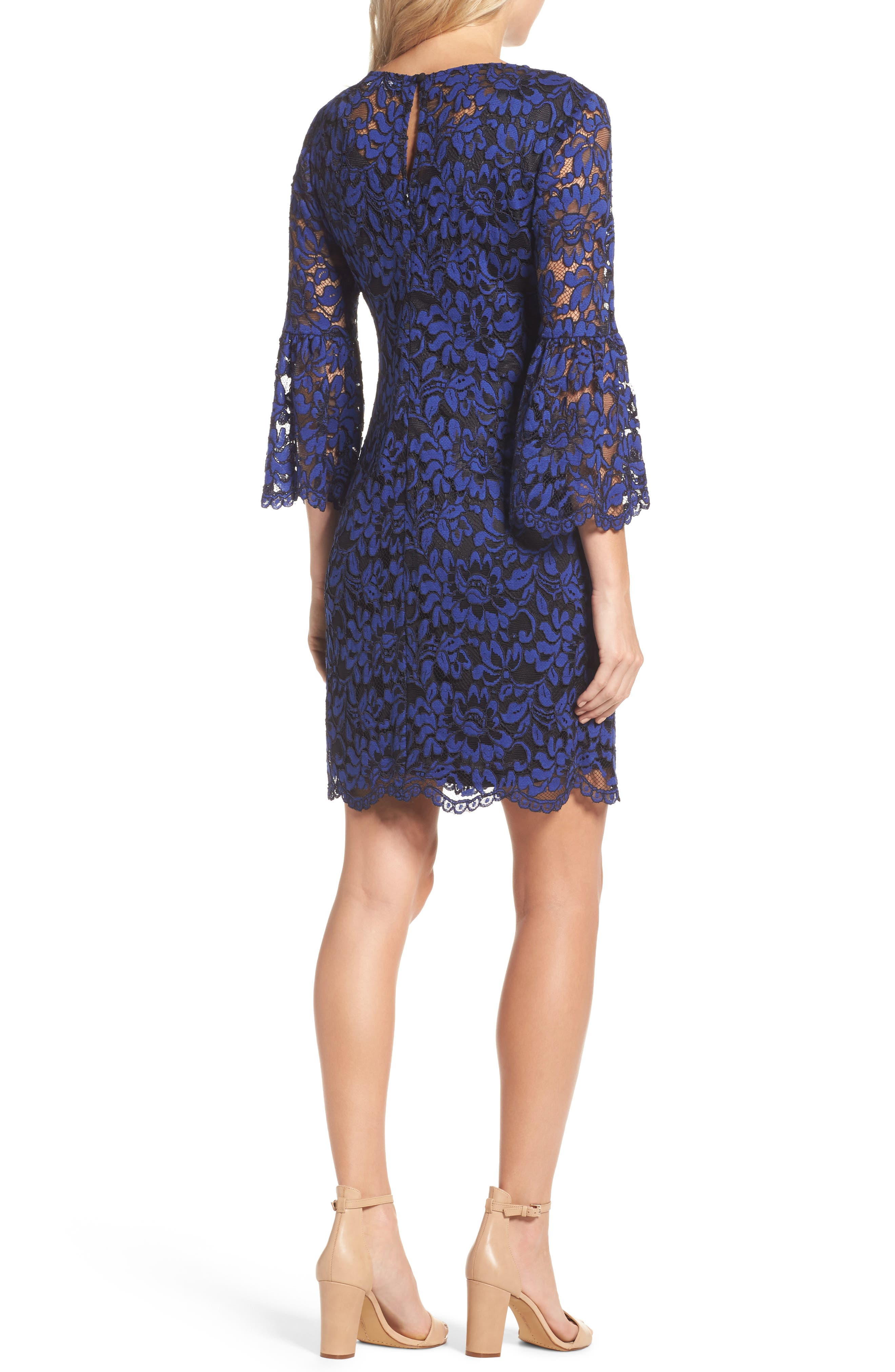 Bell Sleeve Lace Dress,                             Alternate thumbnail 2, color,                             492