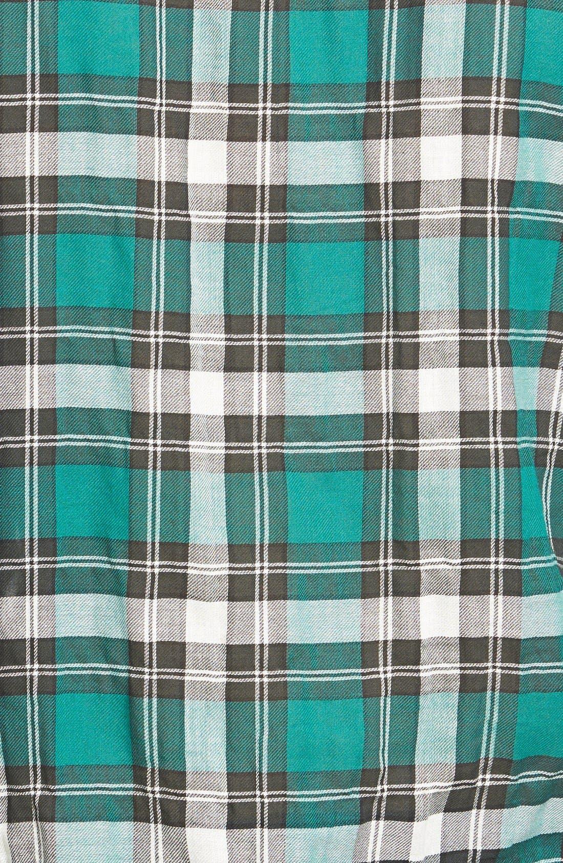 Roll Sleeve Woven Plaid Shirt,                             Alternate thumbnail 2, color,                             300