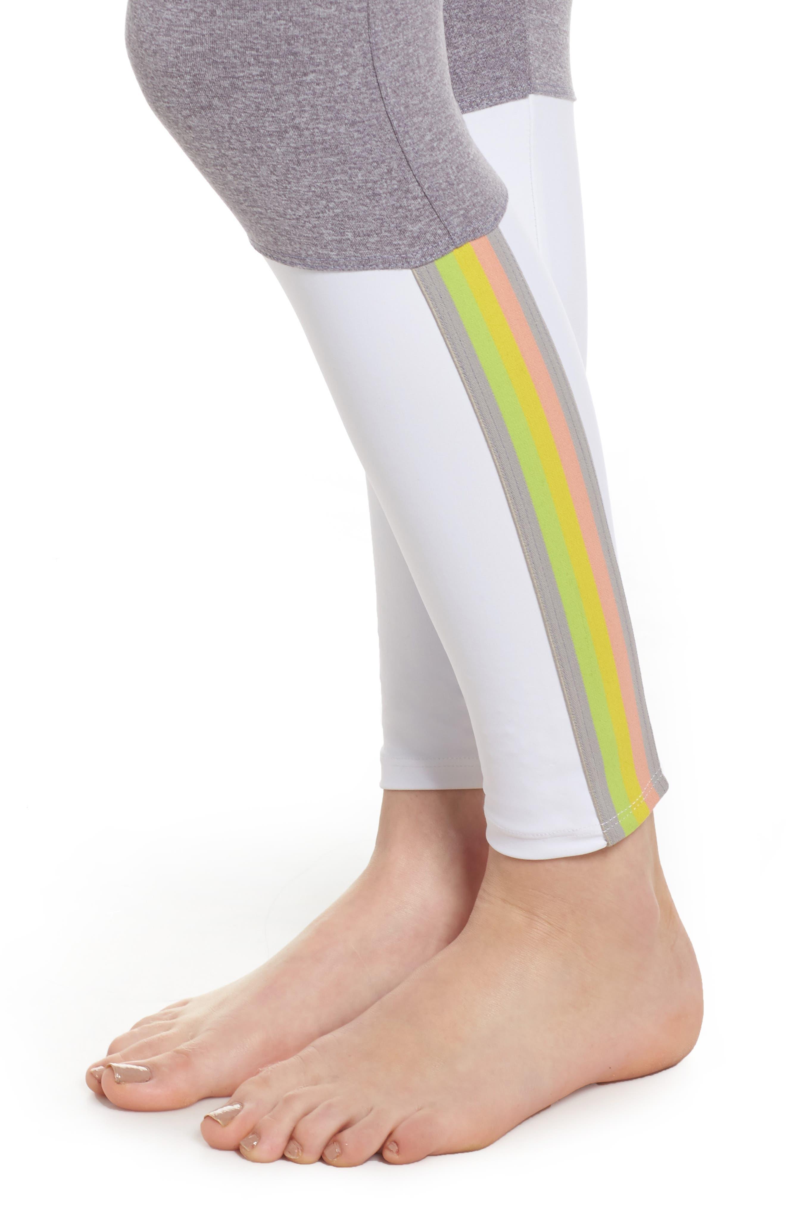 Stripe Leggings,                             Alternate thumbnail 4, color,                             274